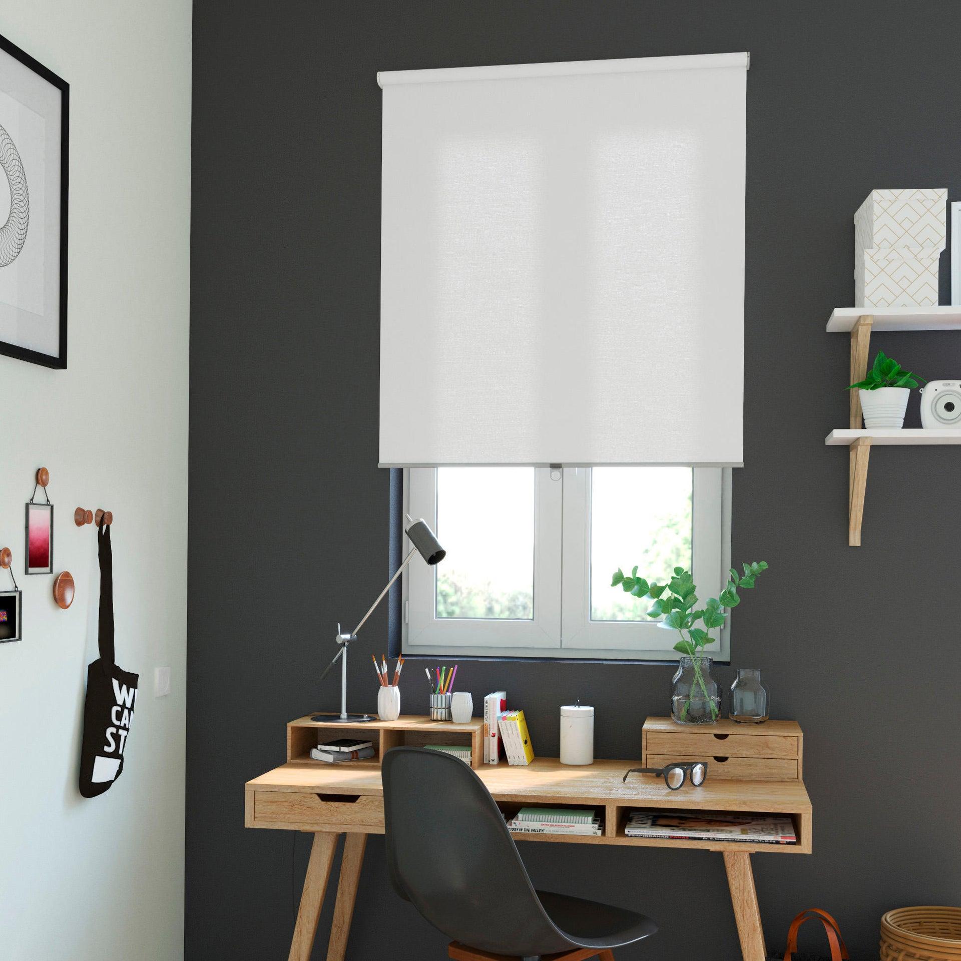 Tenda a rullo oscurante INSPIRE Delhi cordless bianco 160 x 195 cm - 2
