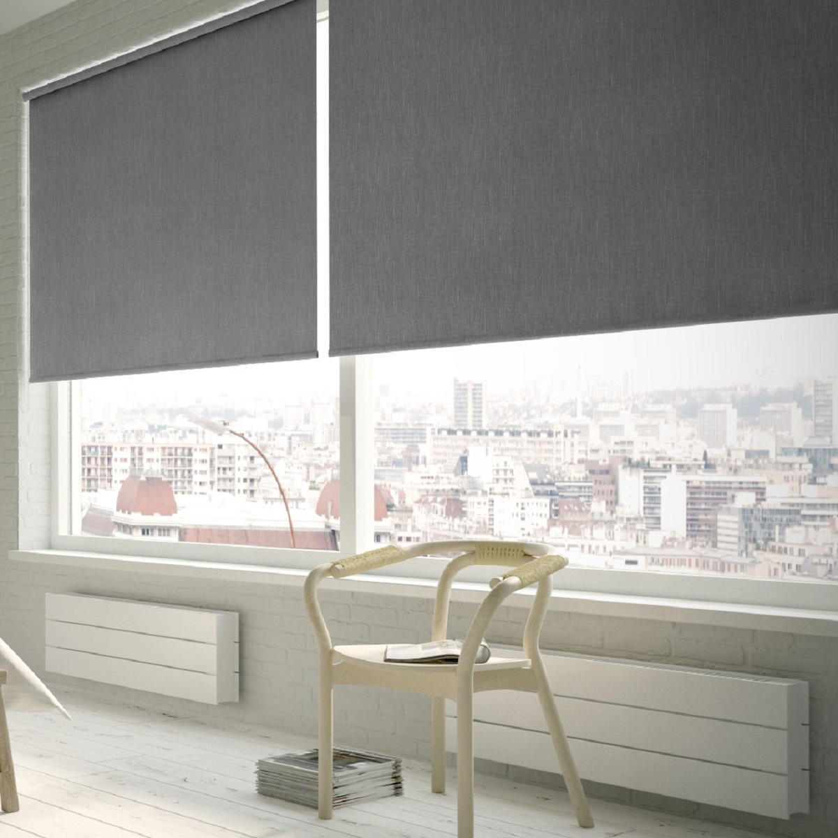 Tenda a rullo oscurante Texture grigio 150 x 250 cm - 1