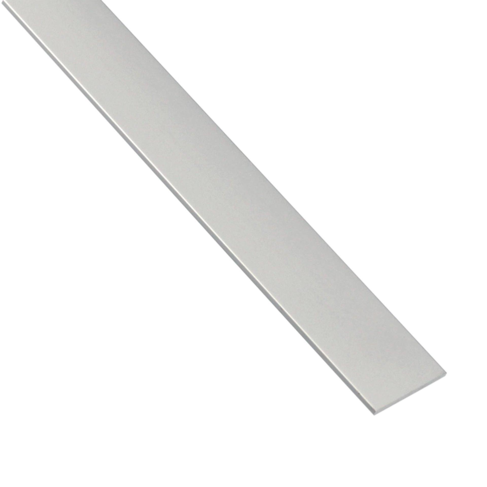 Profilo piatto STANDERS in alluminio 2.6 m x 5 cm grigio - 1