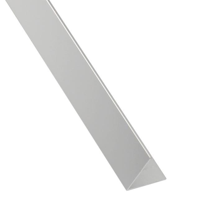 Profilo angolare simmetrico STANDERS in alluminio 2.6 m x 1.1 cm grigio - 1