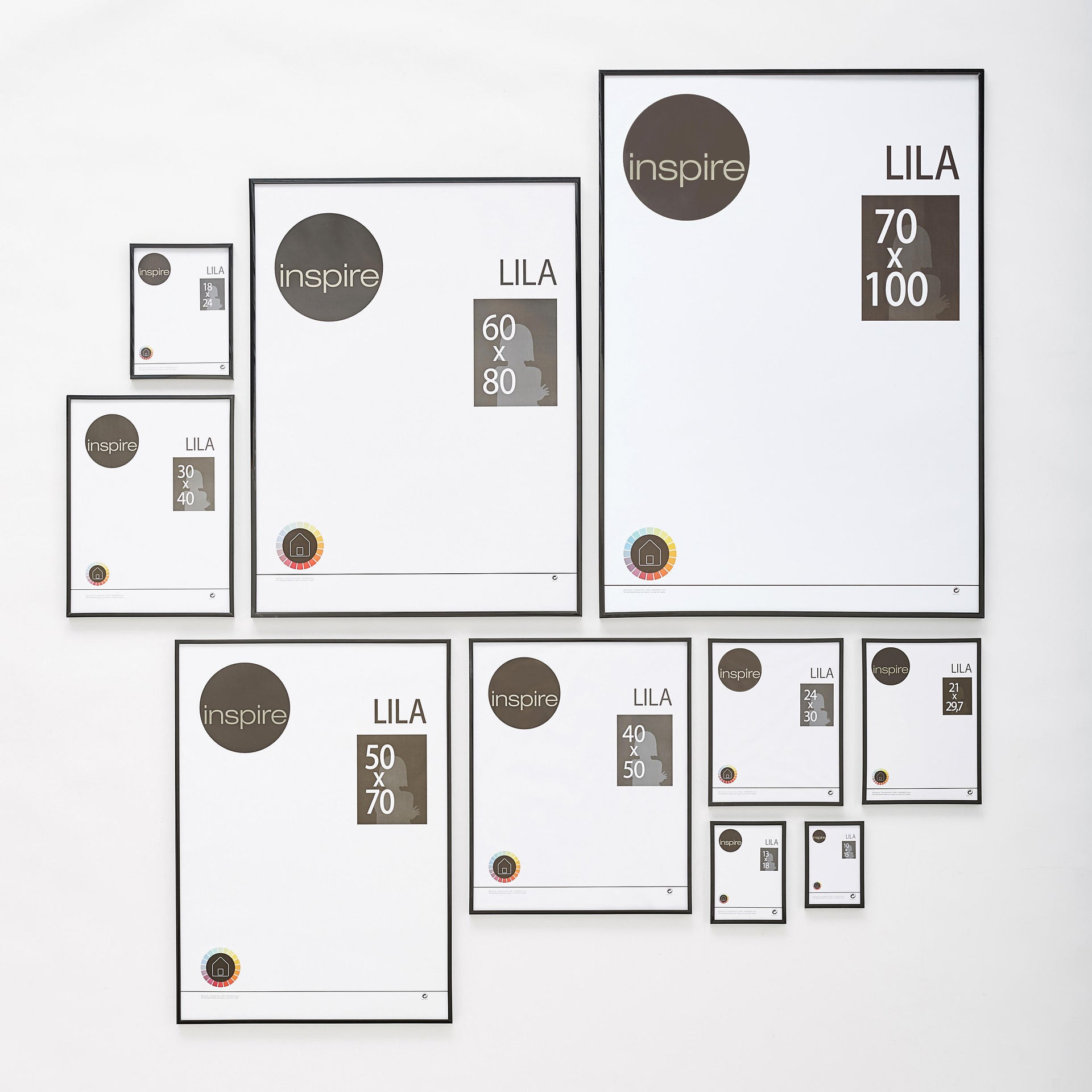 Cornice INSPIRE Lila nero per foto da 70x100 cm - 2