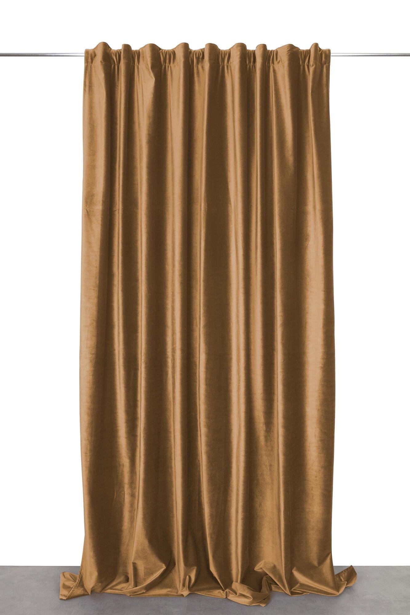 Tenda Misty marrone fettuccia con passanti nascosti 135 x 280 cm - 2