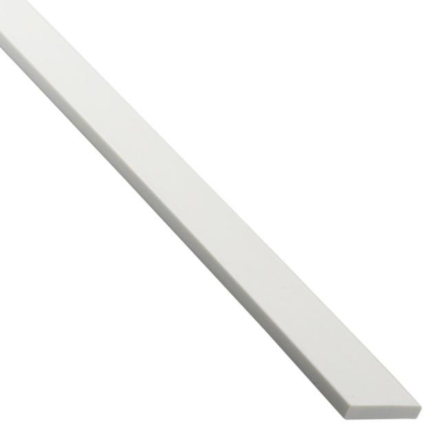 Profilo piatto STANDERS in pvc 2.6 m x 4 cm bianco - 1