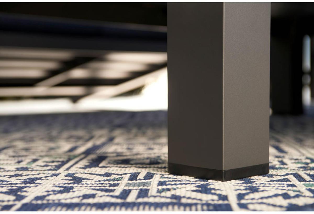 Tavolino da giardino rettangolare Indianapolis con piano in alluminio L 73 x P 118.5 cm - 2
