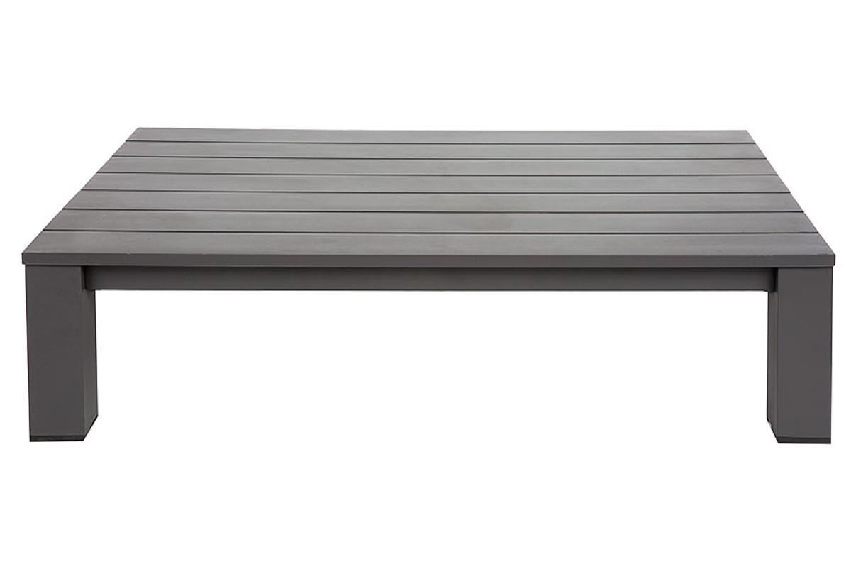 Tavolino da giardino rettangolare Indianapolis con piano in alluminio L 73 x P 118.5 cm - 4