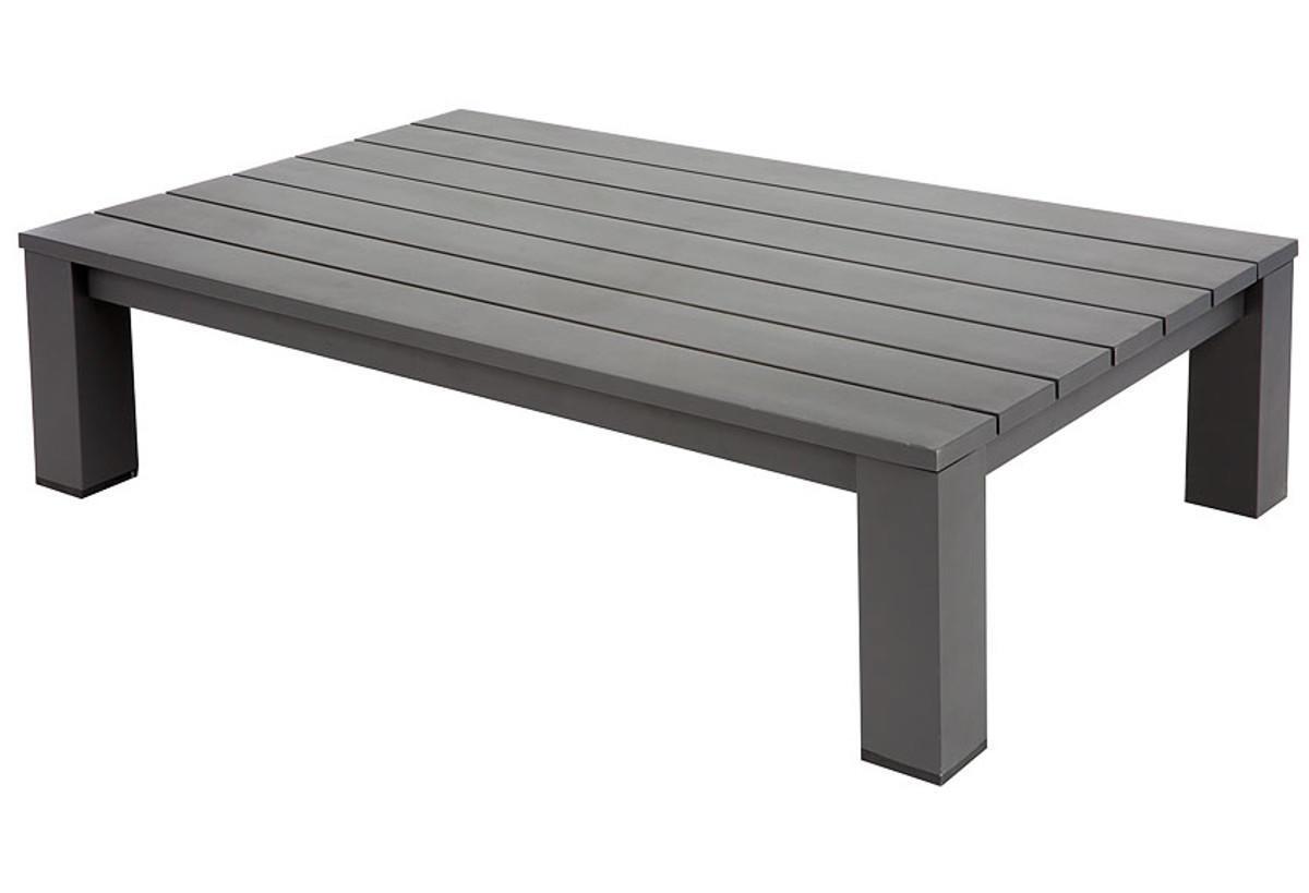 Tavolino da giardino rettangolare Indianapolis con piano in alluminio L 73 x P 118.5 cm - 1