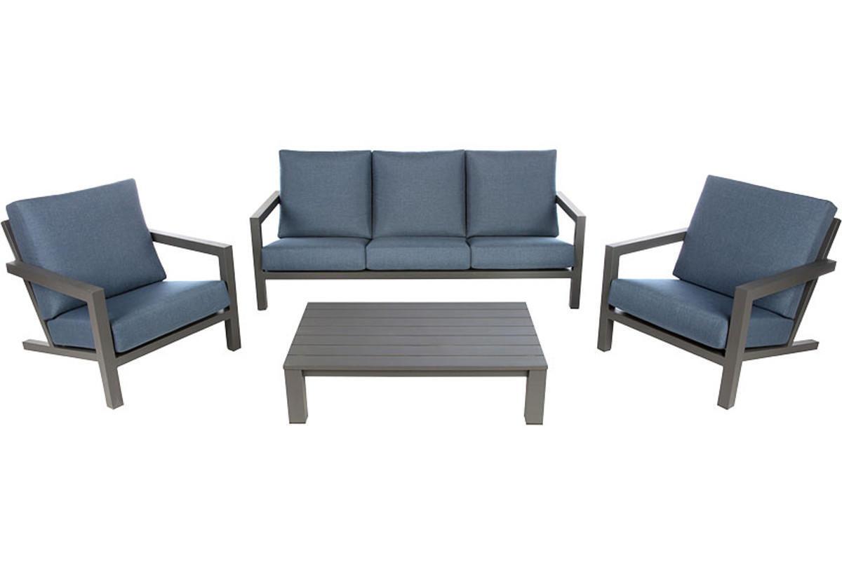 Tavolino da giardino rettangolare Indianapolis con piano in alluminio L 73 x P 118.5 cm - 3