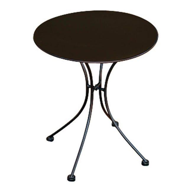Tavolo da giardino tondo con piano in ferro Ø 60 cm - 1