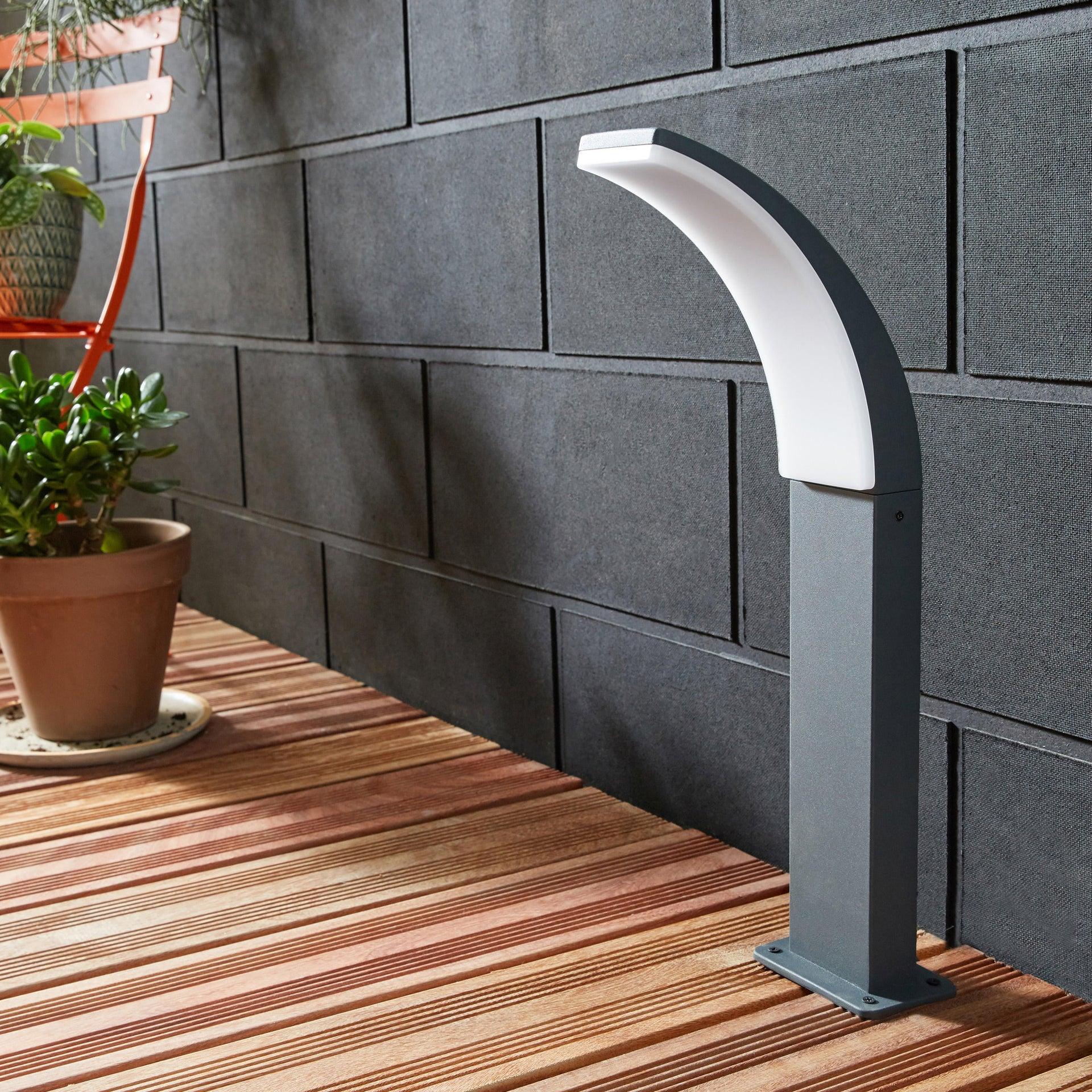 LampioneLakko H 96.0 cm, in alluminio, antracite, 1200LM MAX11.0W IP44 INSPIRE - 2