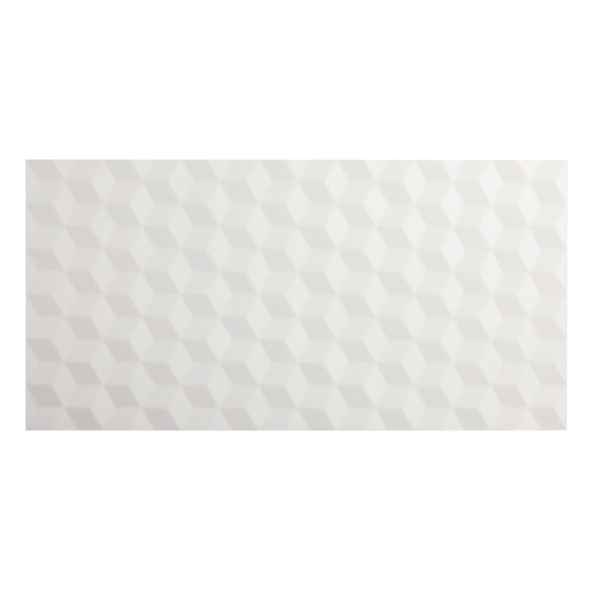 Piastrella per rivestimenti Arctic 30 x 60 cm sp. 9 mm bianco - 4