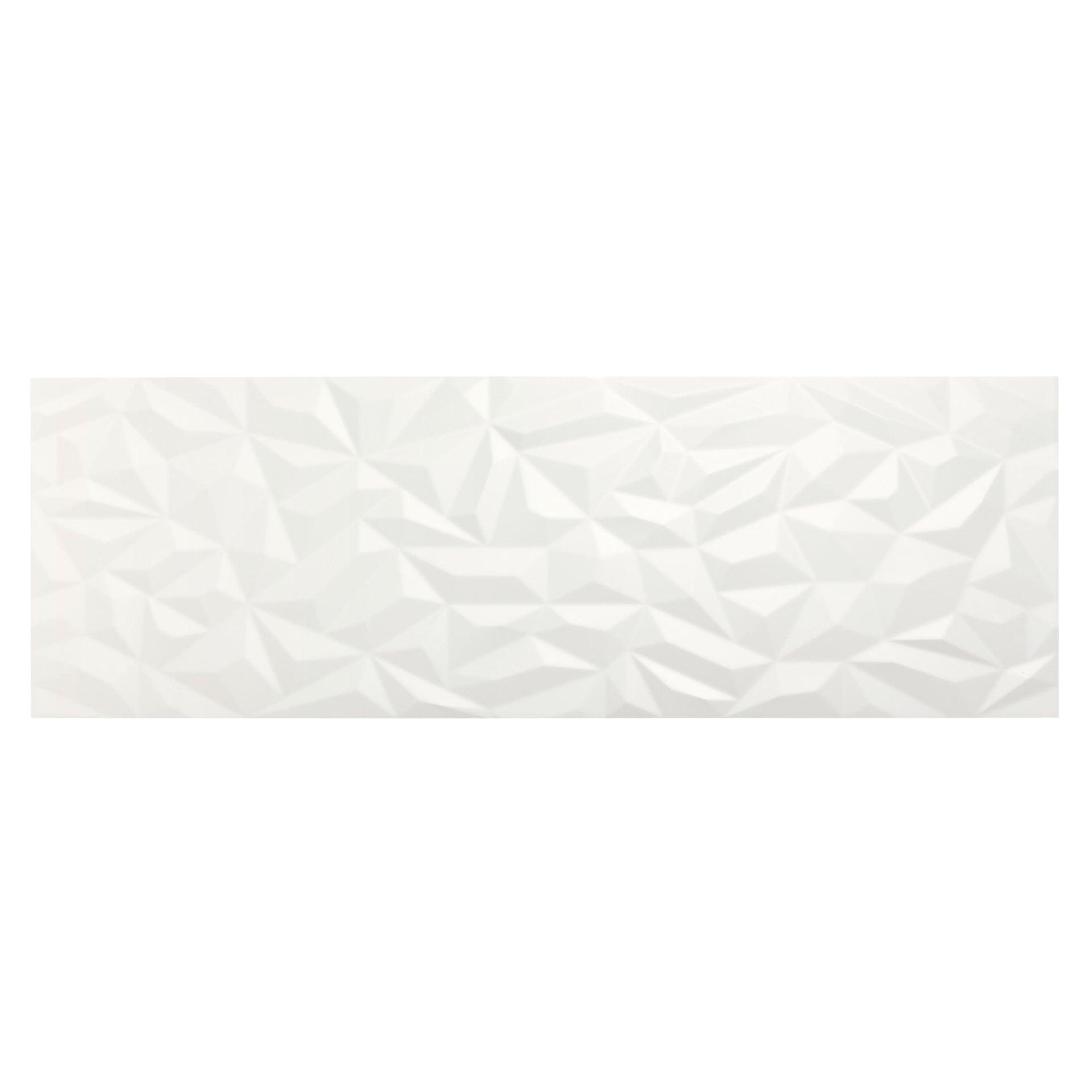 Piastrella per rivestimenti Arctic 30 x 90 cm sp. 10 mm bianco - 5