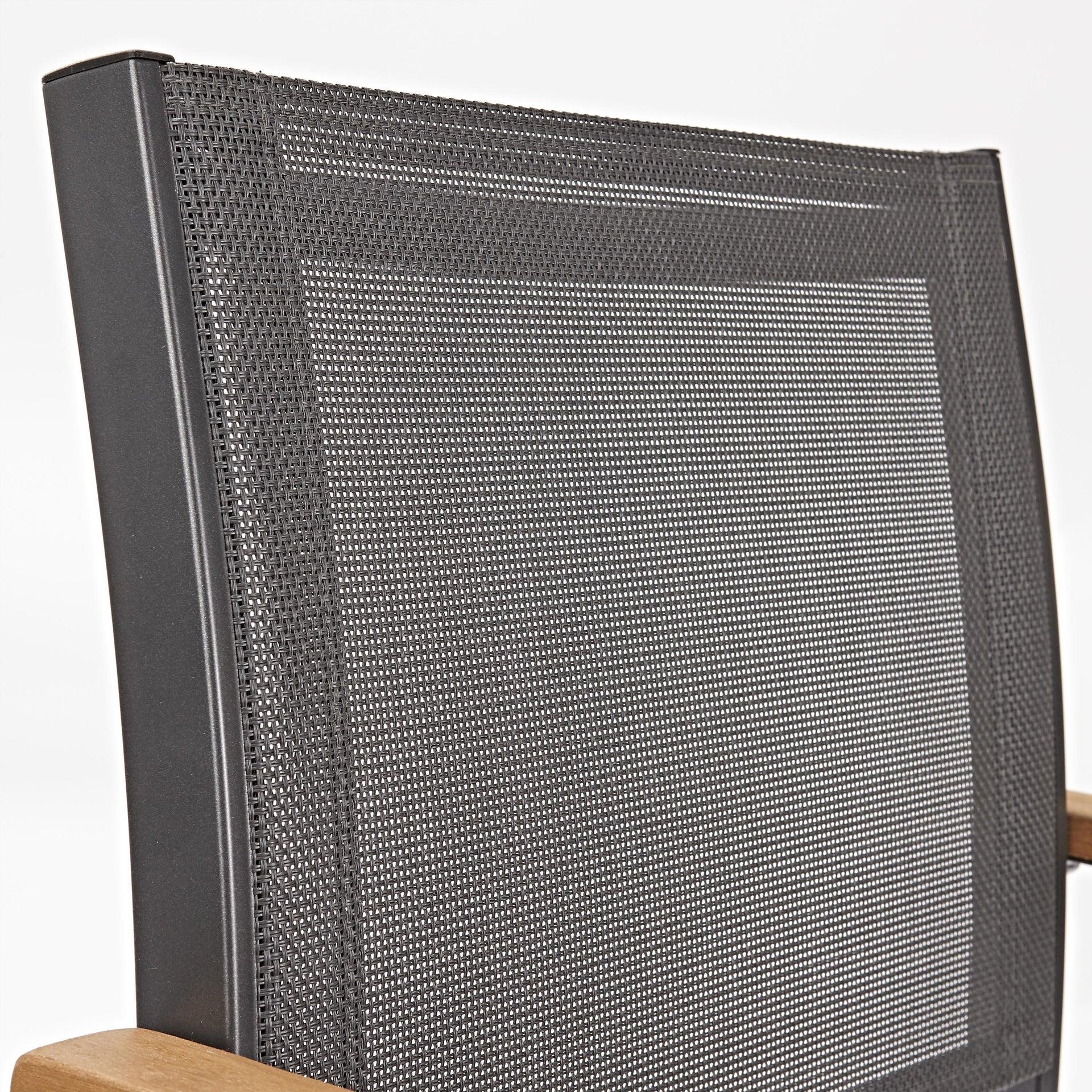 Sedia con braccioli senza cuscino in alluminio Oris NATERIAL colore teak - 4