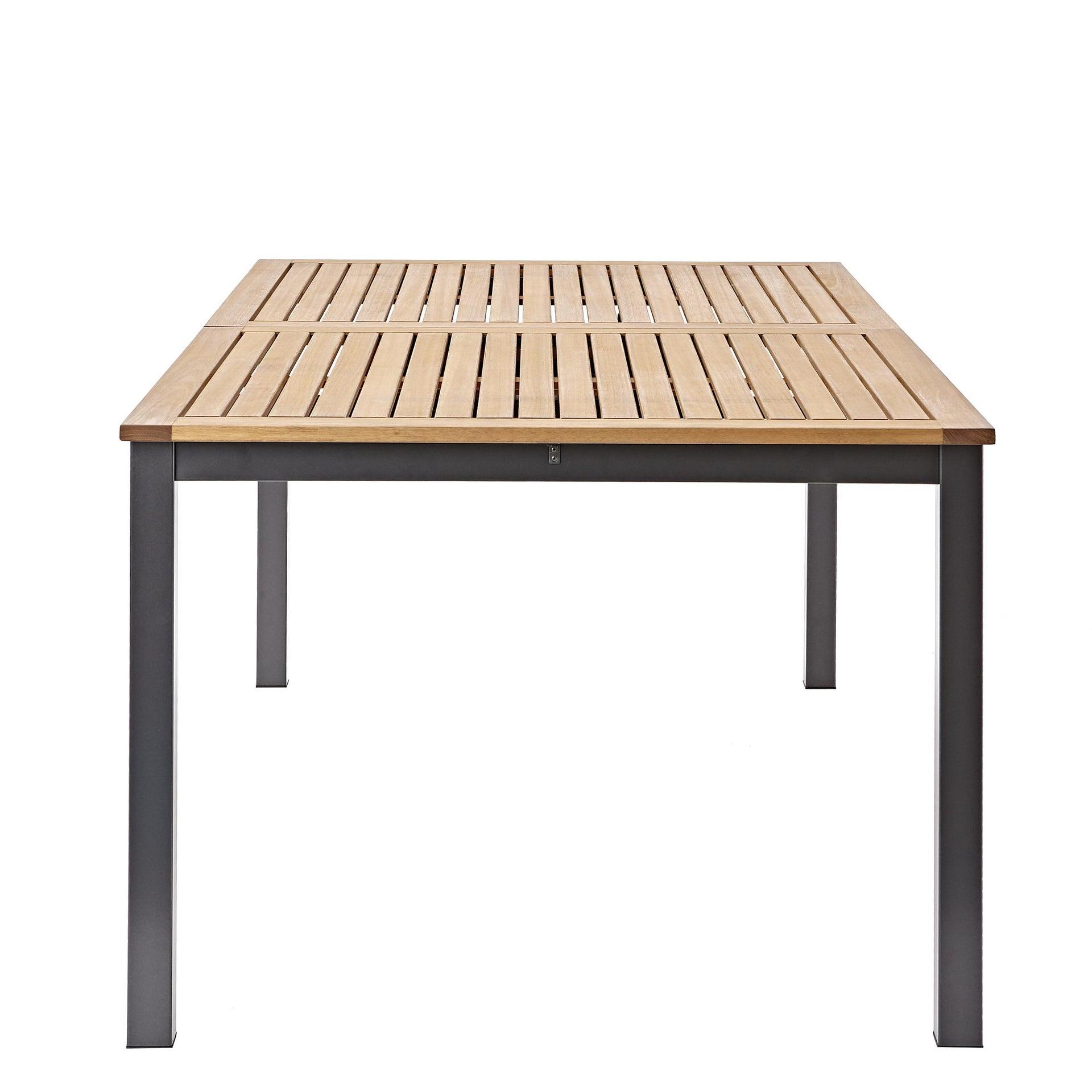 Tavolo da giardino allungabile rettangolare Oris NATERIAL con piano in legno L 180/240 x P 98.9 cm - 6