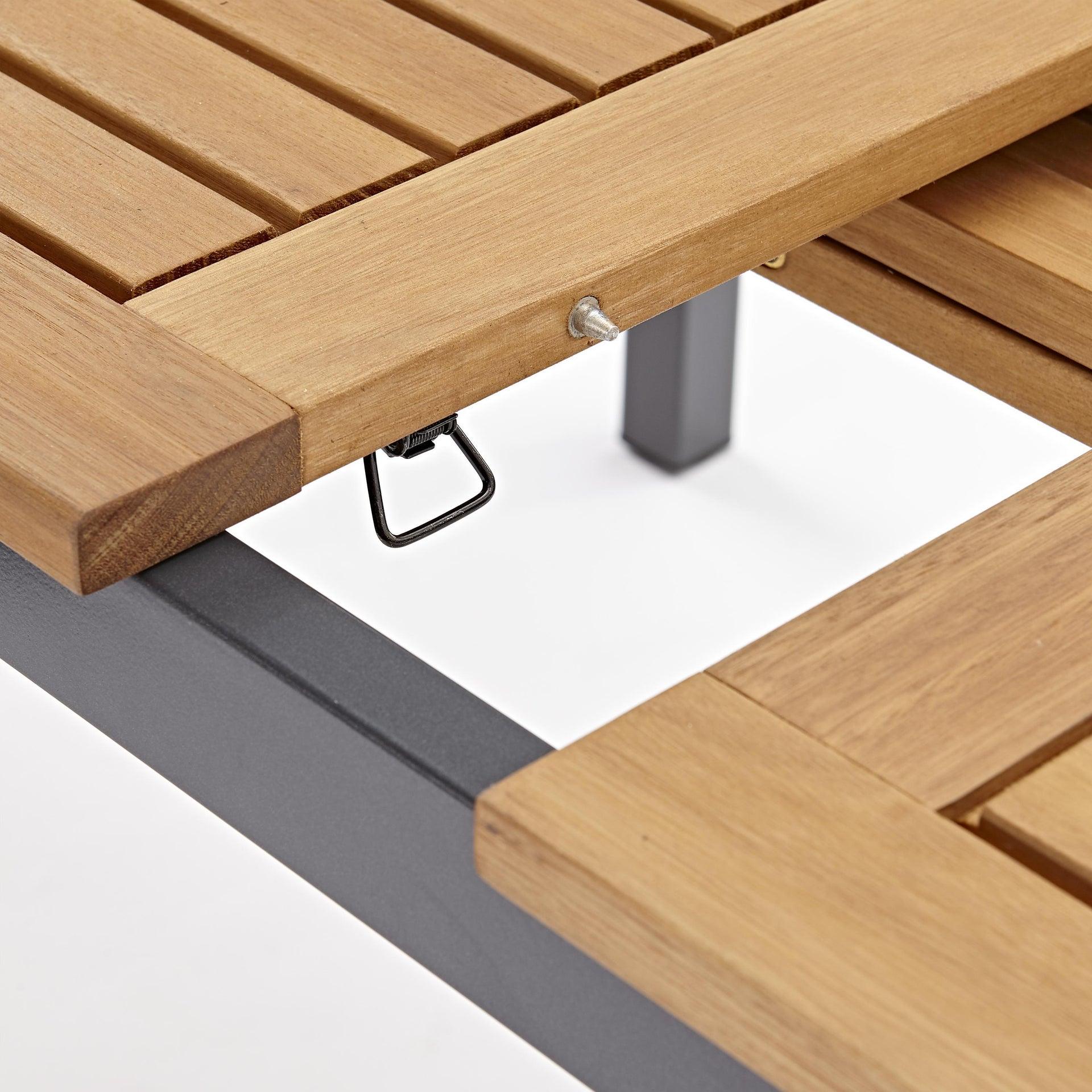 Tavolo da giardino allungabile rettangolare Oris NATERIAL con piano in legno L 180/240 x P 98.9 cm - 19