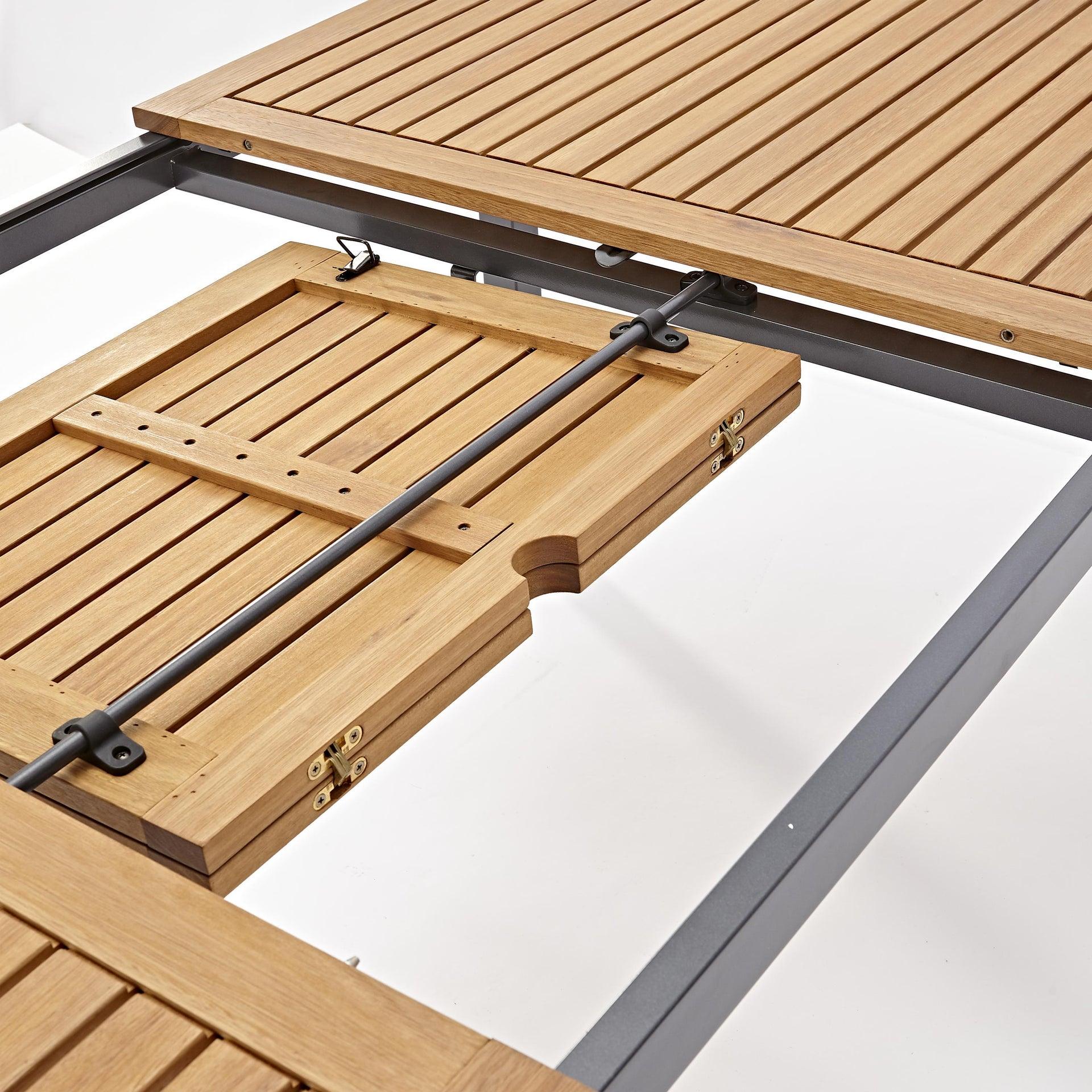 Tavolo da giardino allungabile rettangolare Oris NATERIAL con piano in legno L 180/240 x P 98.9 cm - 8