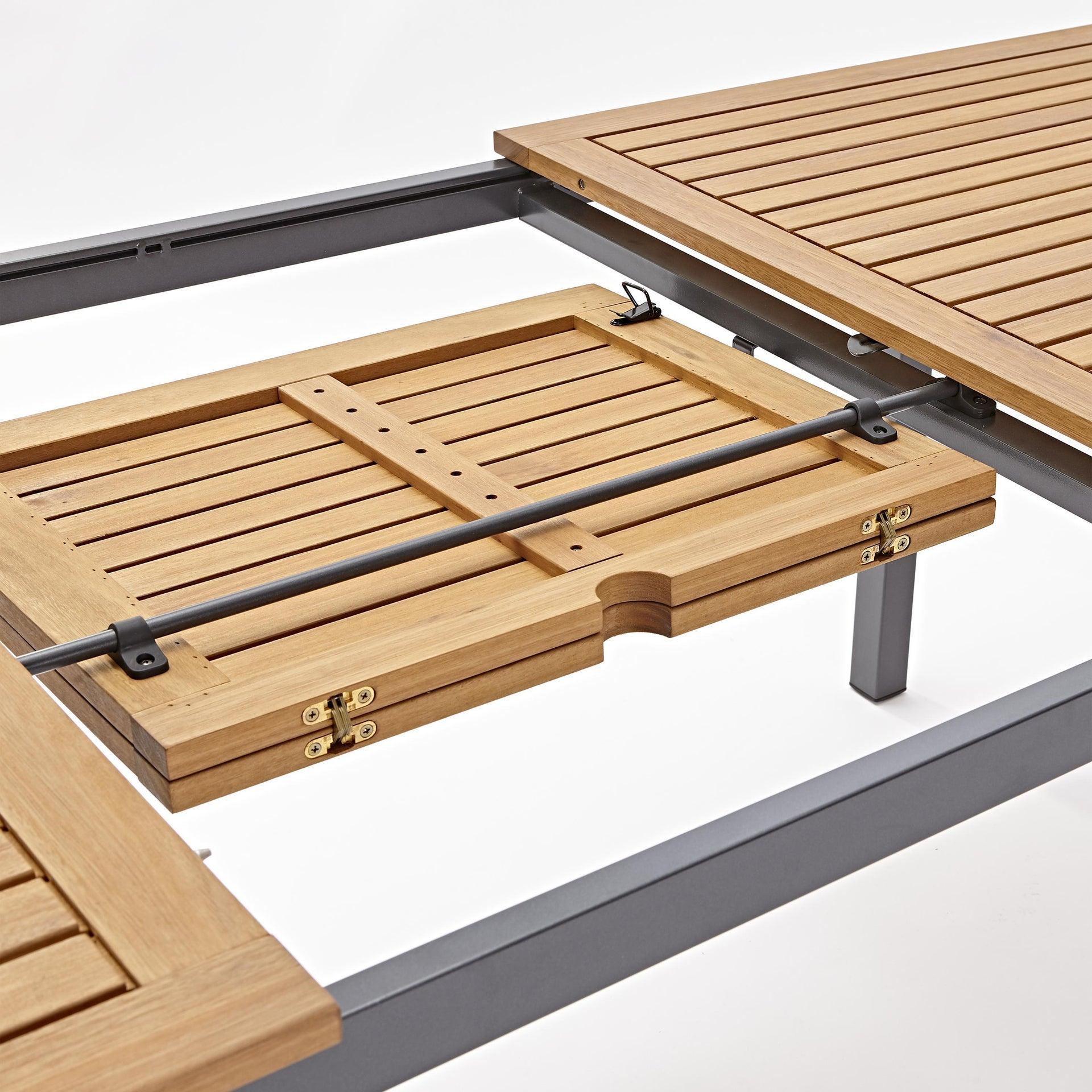 Tavolo da giardino allungabile rettangolare Oris NATERIAL con piano in legno L 180/240 x P 98.9 cm - 16