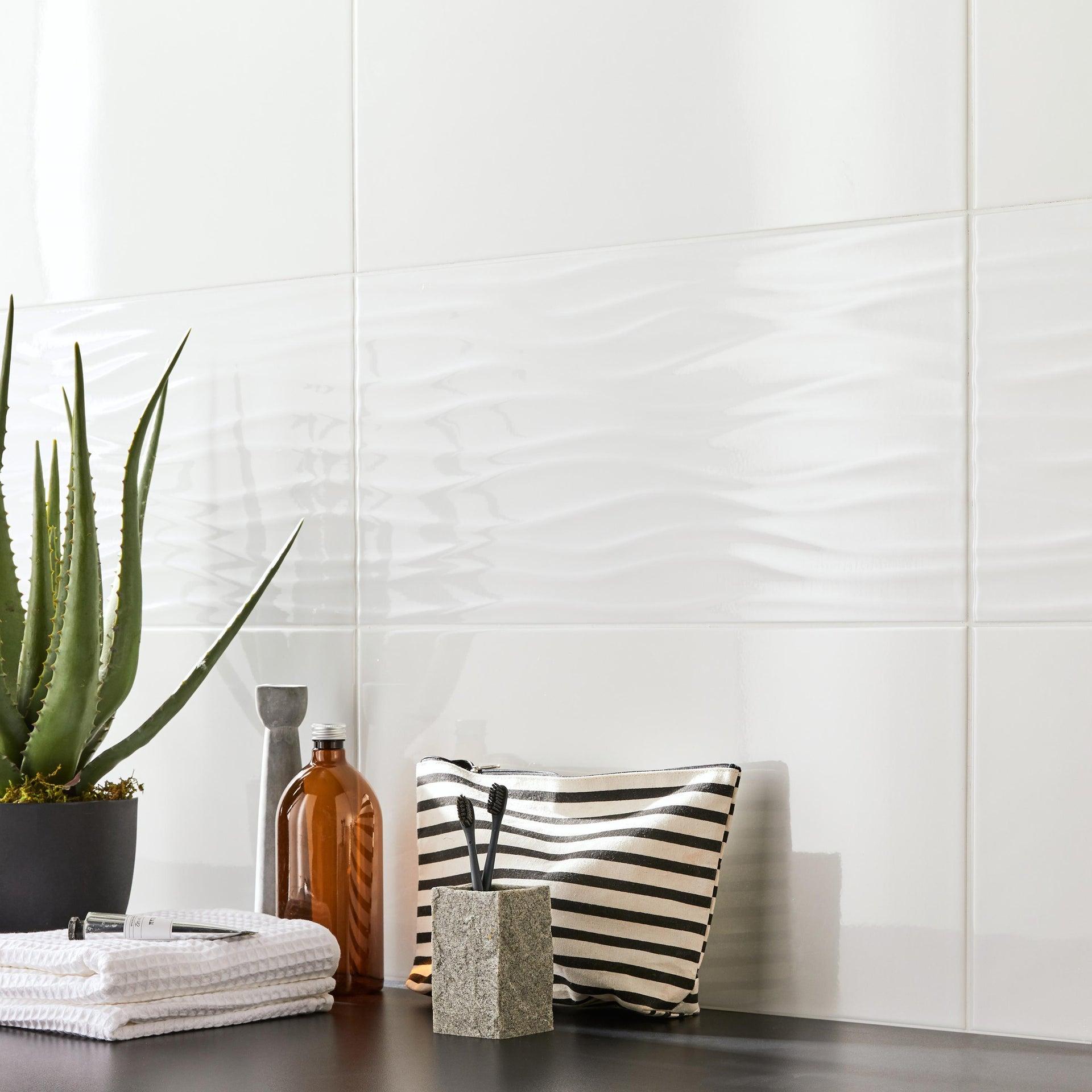 Piastrella per rivestimenti White glossy 30 x 60 cm sp. 8.5 mm bianco - 2