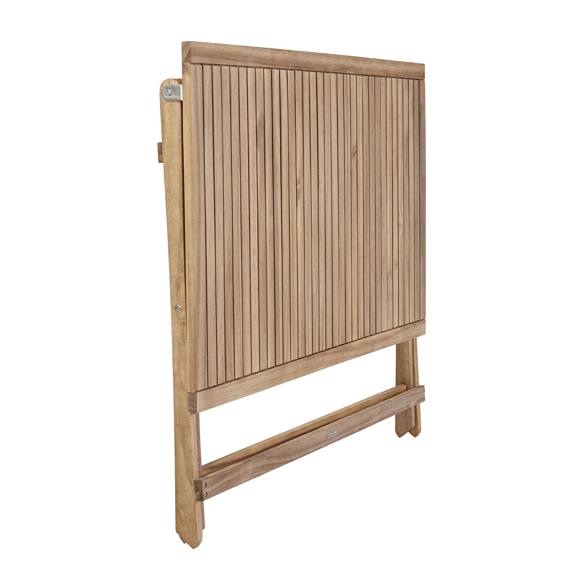 Tavolo da giardino rettangolare Solis NATERIAL con piano in legno L 70 x P 114 cm - 16