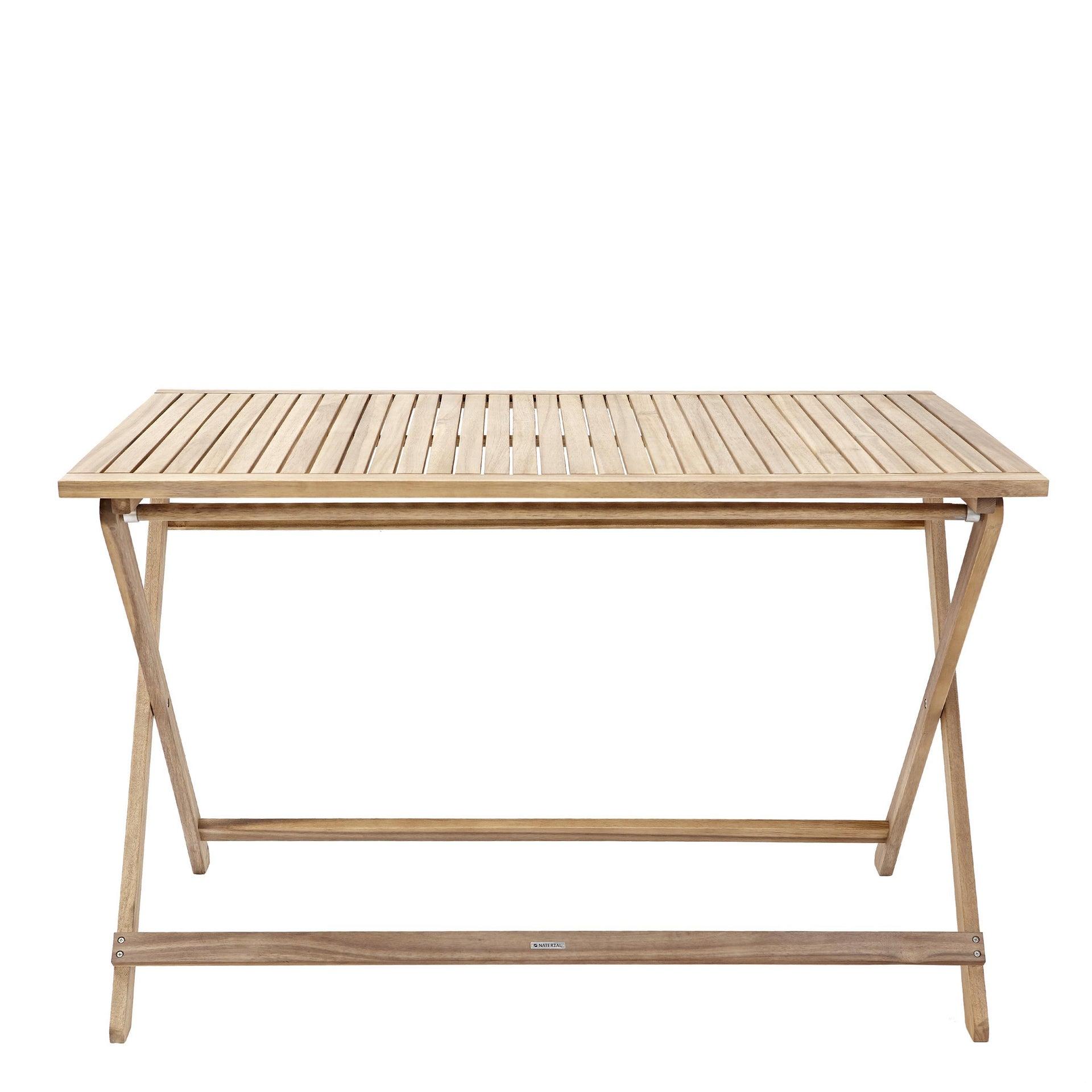 Tavolo da giardino rettangolare Solis NATERIAL con piano in legno L 70 x P 114 cm - 2