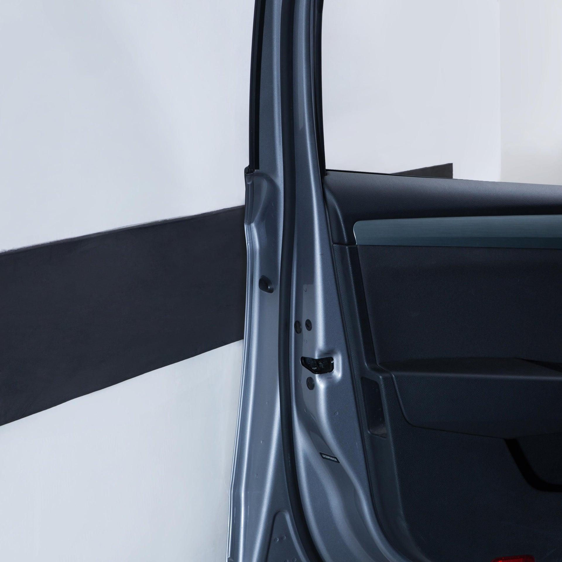 Protezione per garage in polietilene L 200 x H 200 cm nero - 9