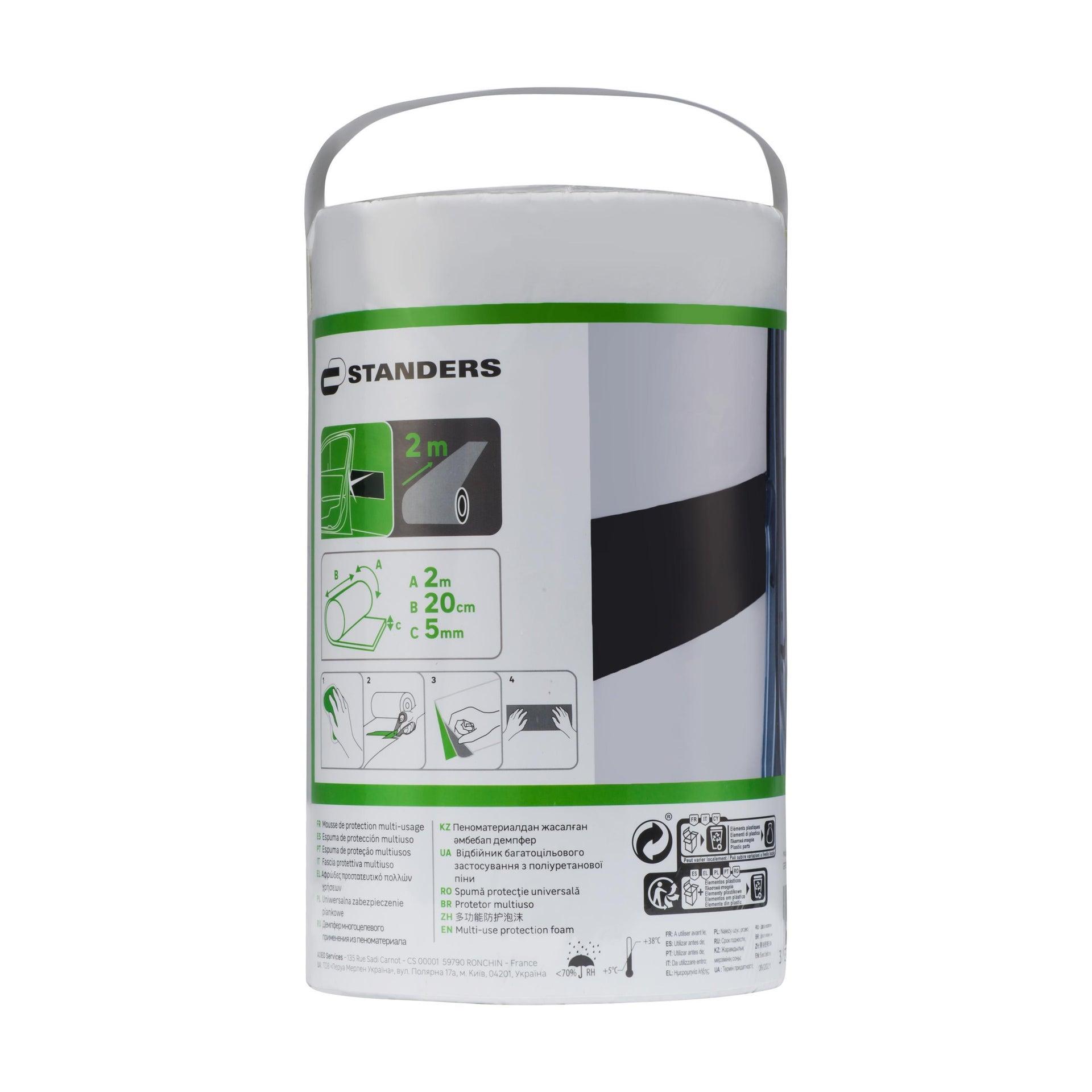Protezione per garage in polietilene L 200 x H 200 cm nero - 8