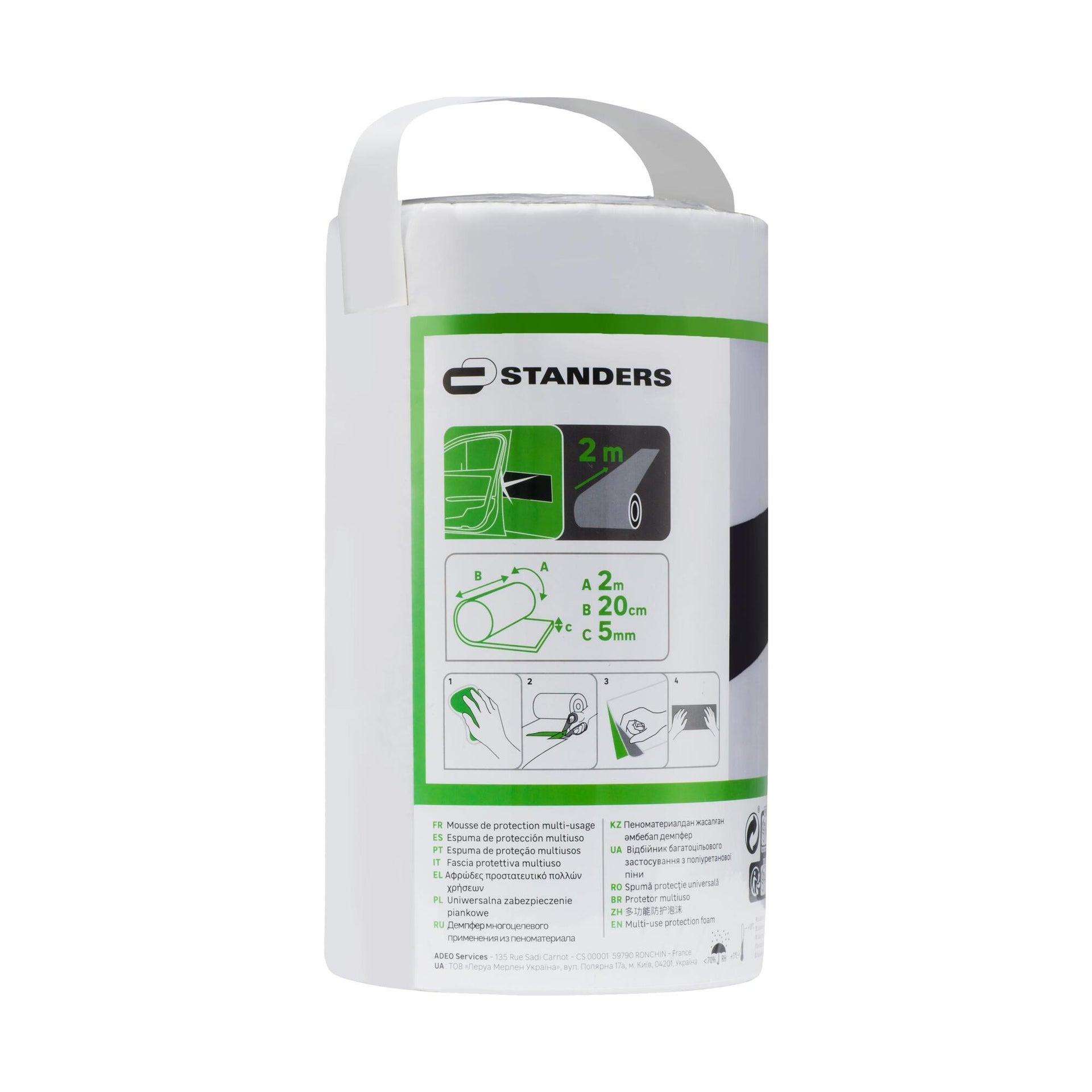Protezione per garage in polietilene L 200 x H 200 cm nero - 11