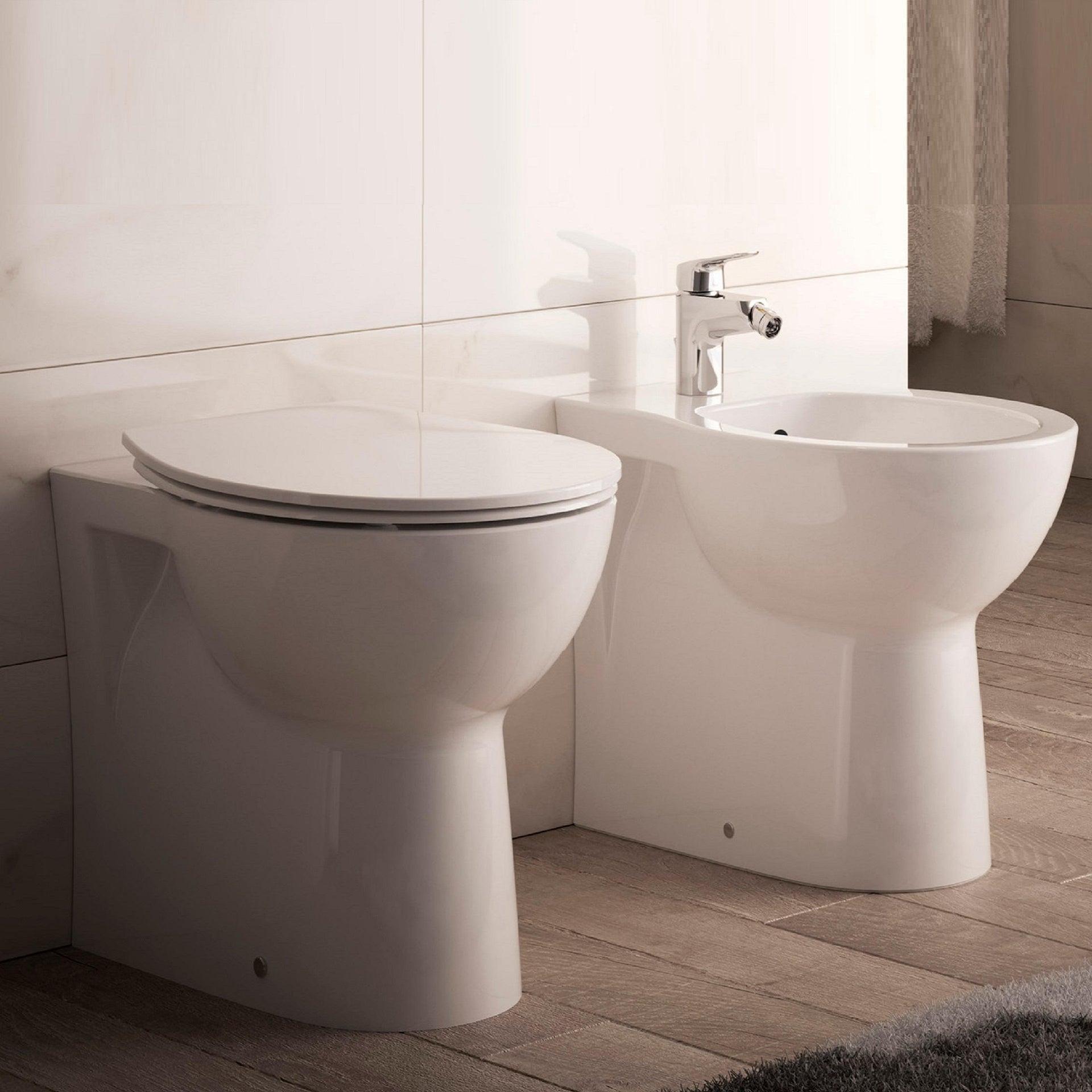 Coppia sanitari pavimento filo muro Miky New IDEAL STANDARD - 1