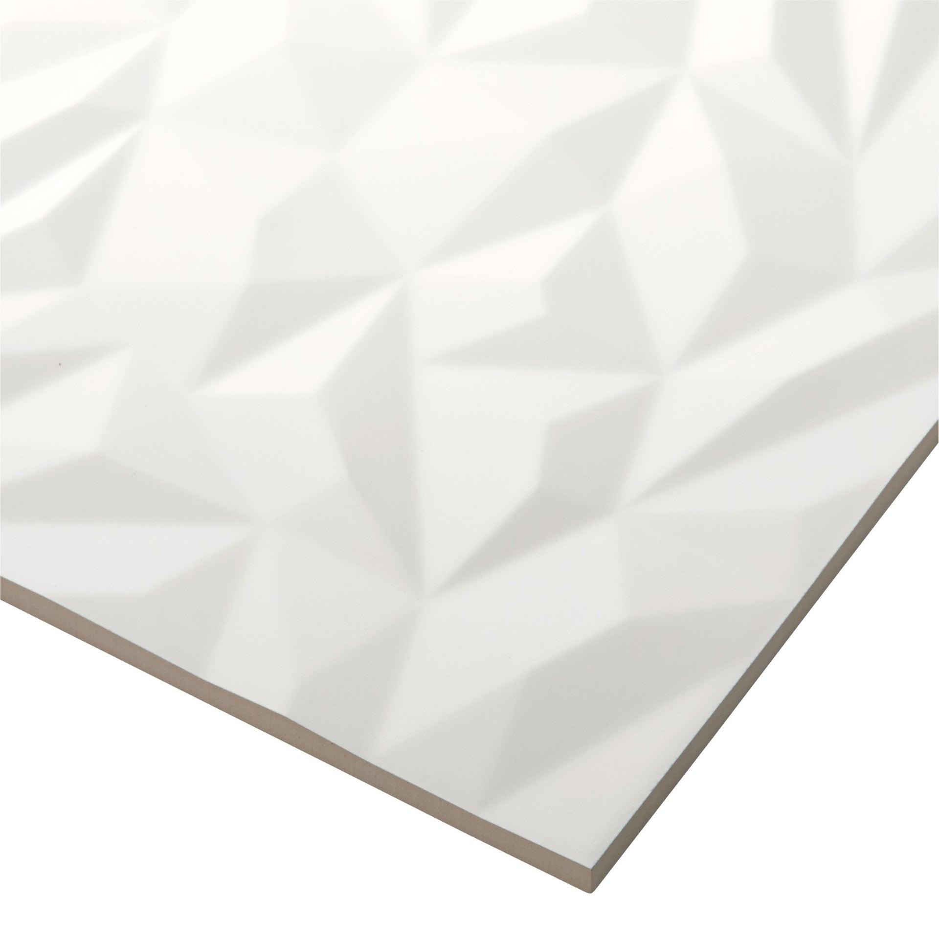 Piastrella per rivestimenti Arctic 30 x 90 cm sp. 10 mm bianco - 4