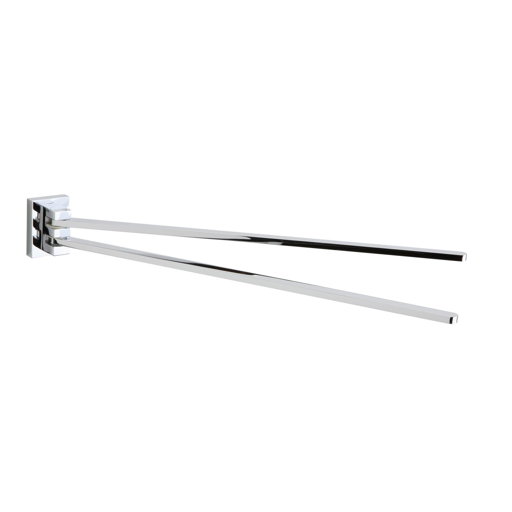 Porta salviette a snodo Smart cromo cromato L 37 cm