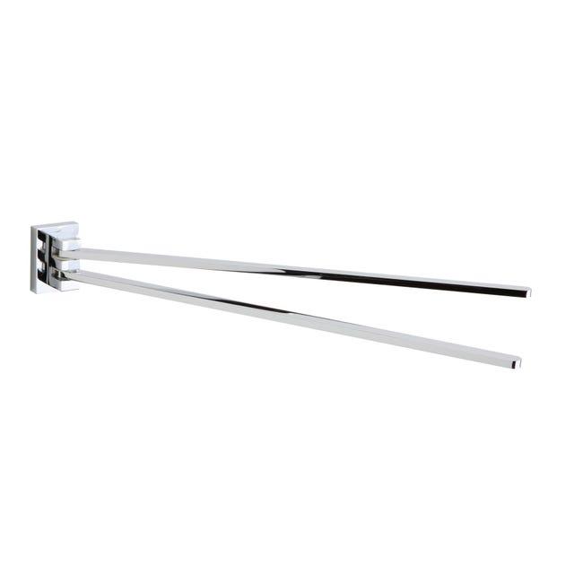 Porta salviette a snodo Smart cromo cromato L 37 cm - 1