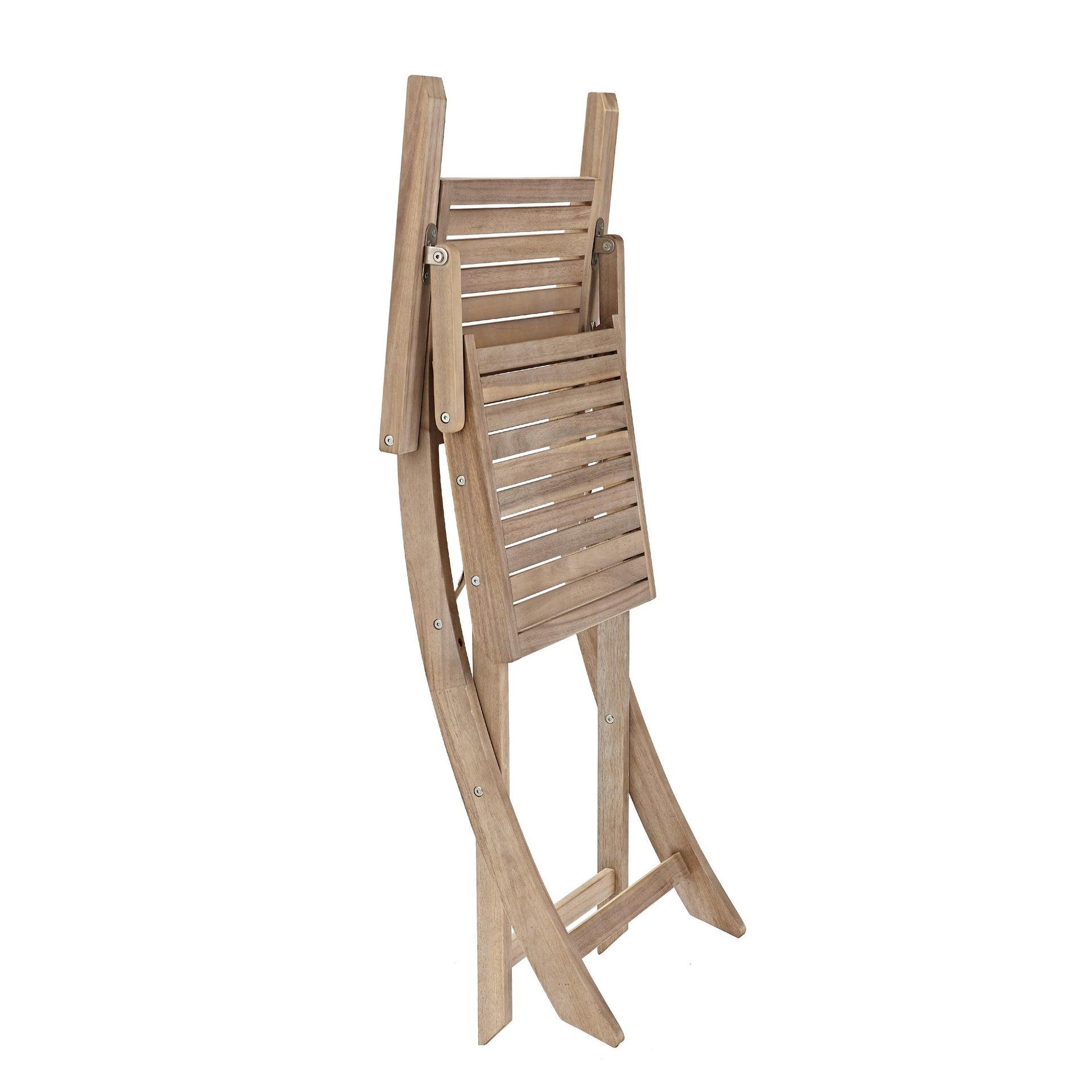 Sedia con braccioli senza cuscino pieghevole in legno Solaris NATERIAL colore acacia - 16