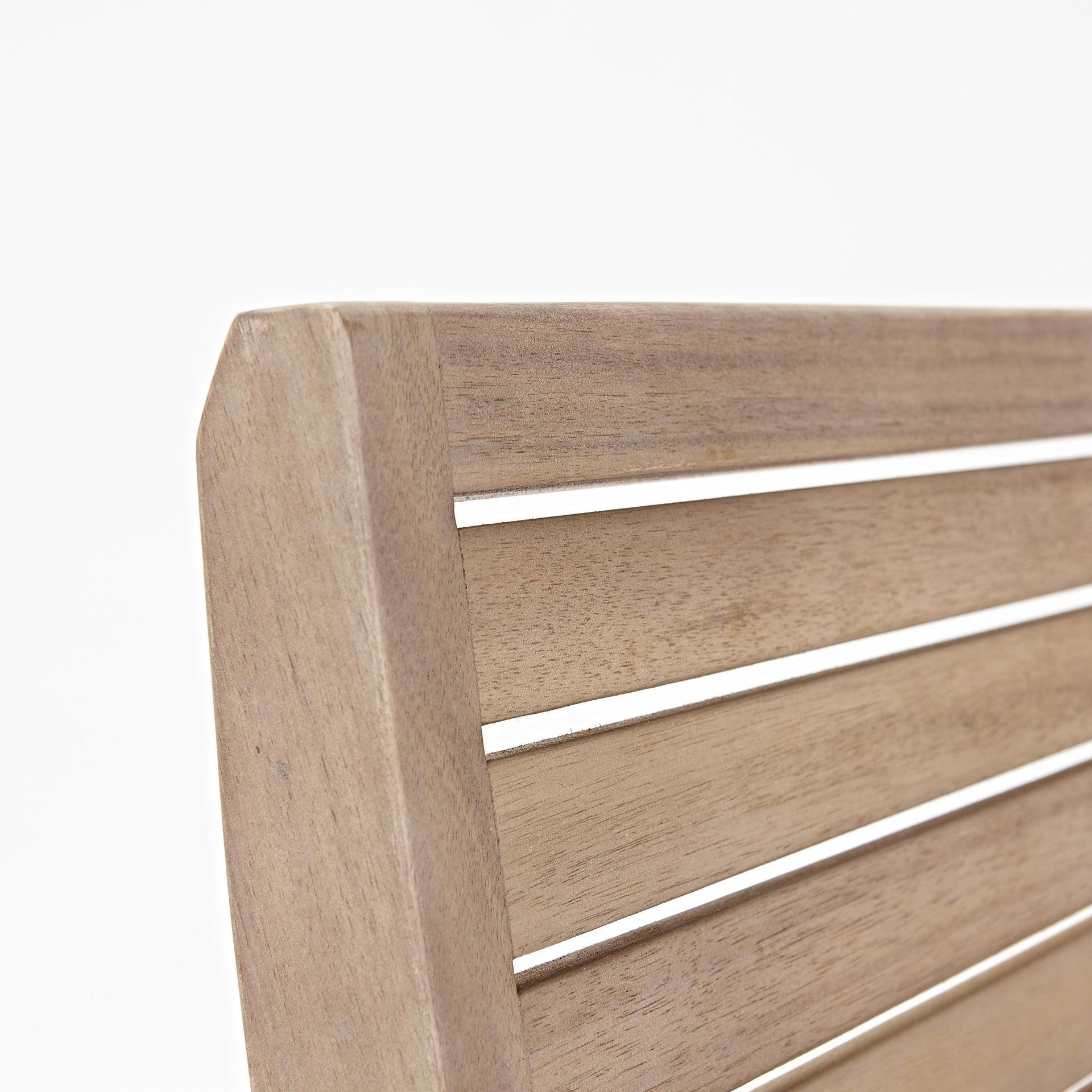 Sedia con braccioli senza cuscino pieghevole in legno Solaris NATERIAL colore acacia - 18