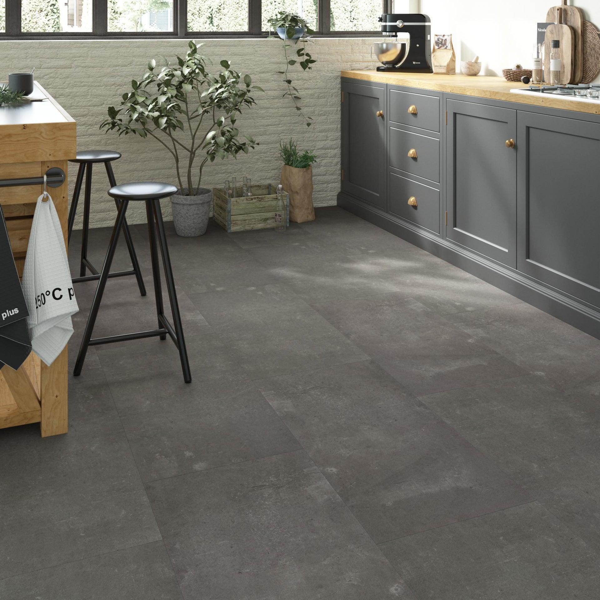 Pavimento PVC flottante clic+ Juke Sp 5 mm grigio / argento - 1