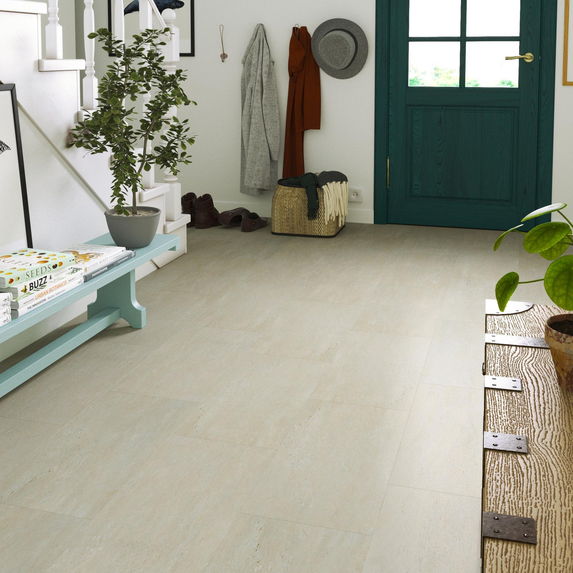 Pavimento PVC adesivo Limestone Sp 2 mm grigio / argento - 7