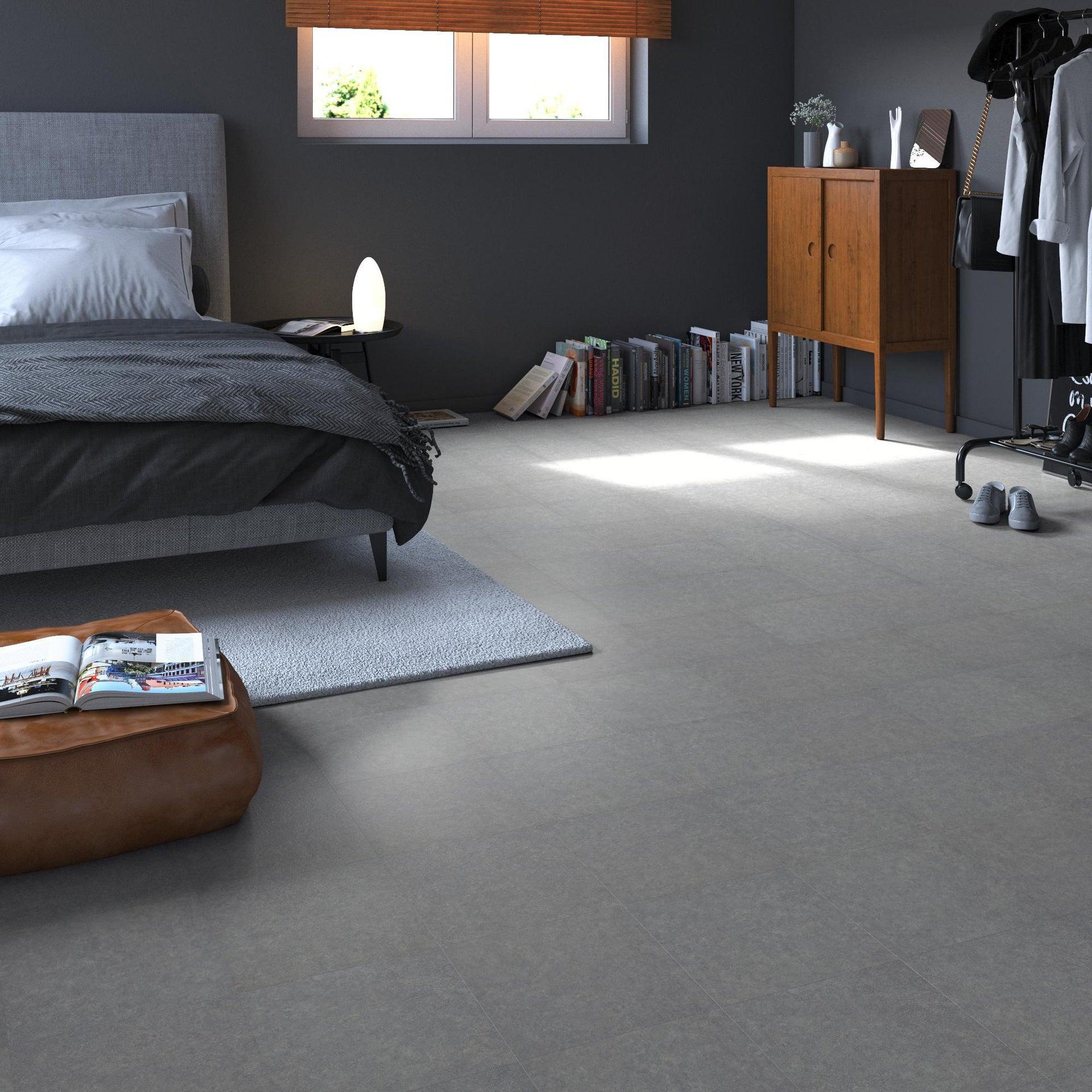 Pavimento PVC adesivo Kamet Sp 1.2 mm grigio / argento - 1