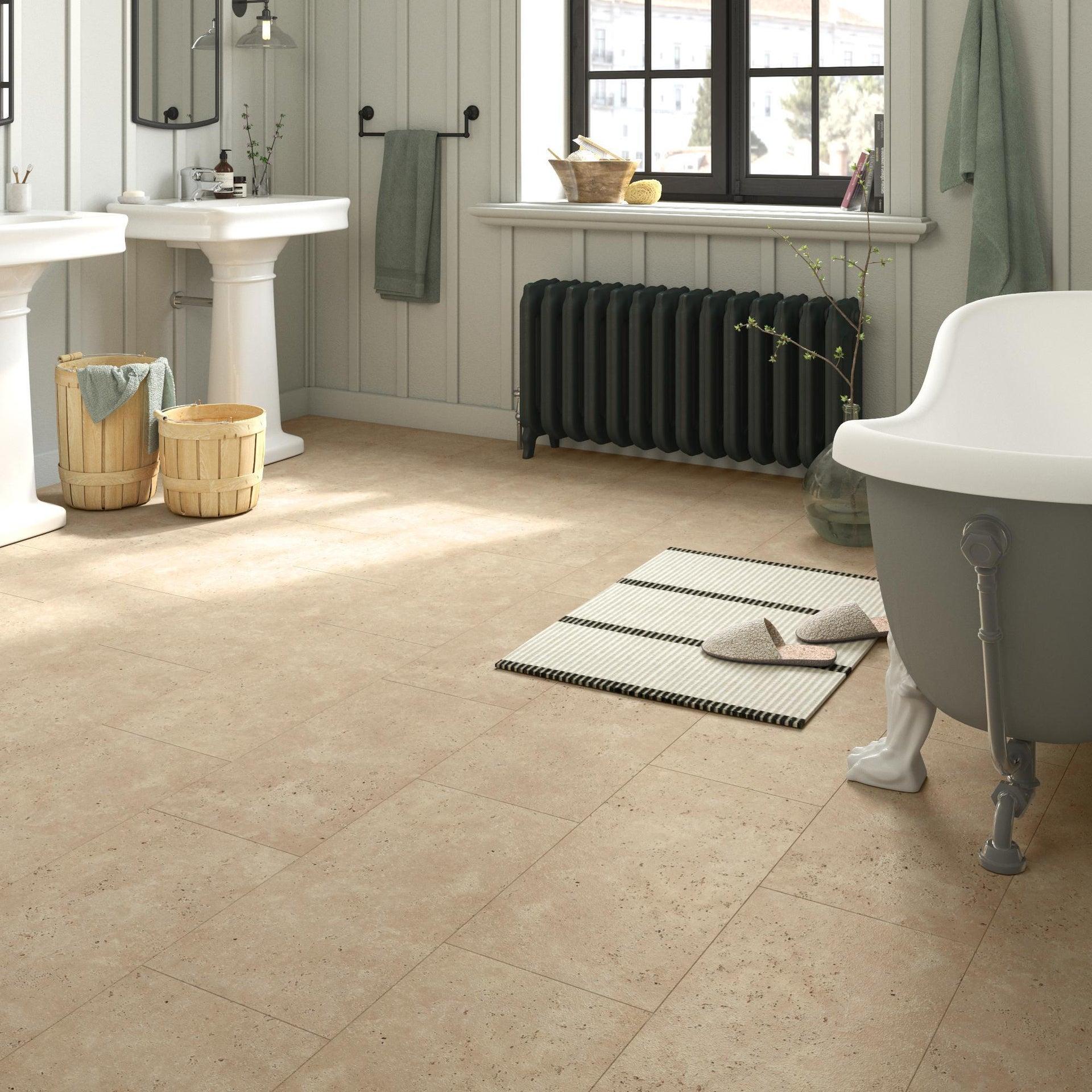 Pavimento PVC adesivo Travertino Sp 1.5 mm beige - 4