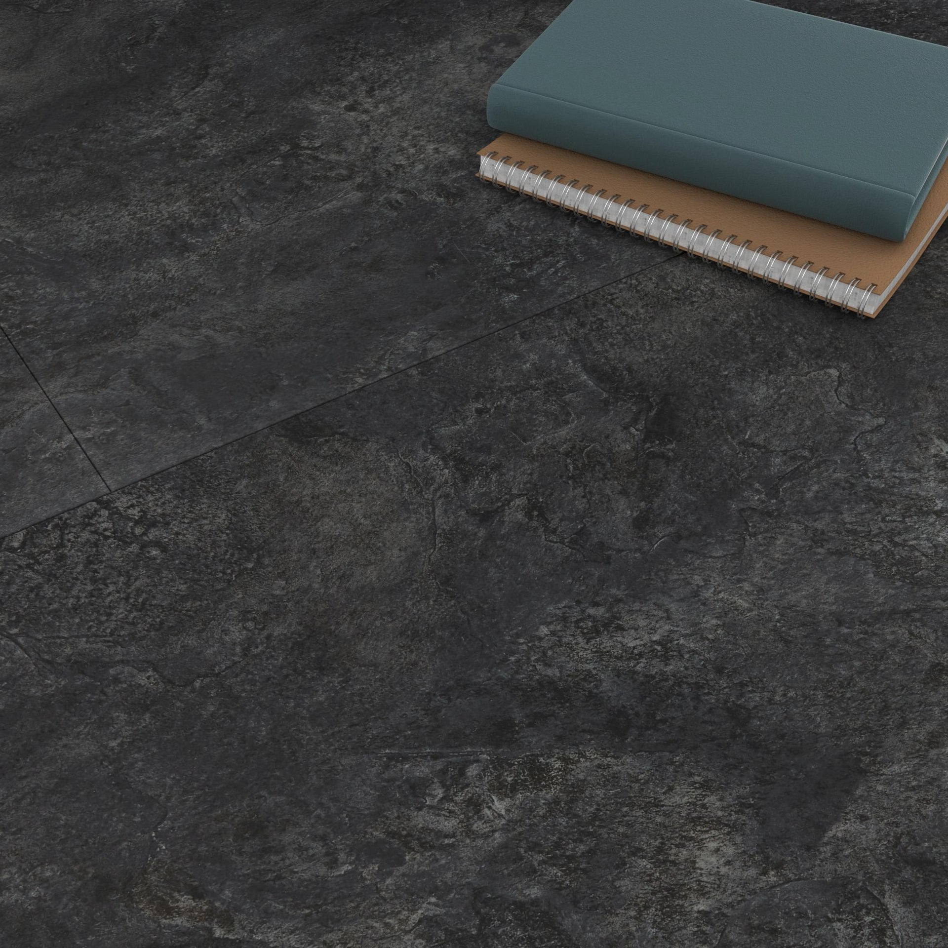 Pavimento PVC flottante clic+ Slate Sp 5 mm nero - 6