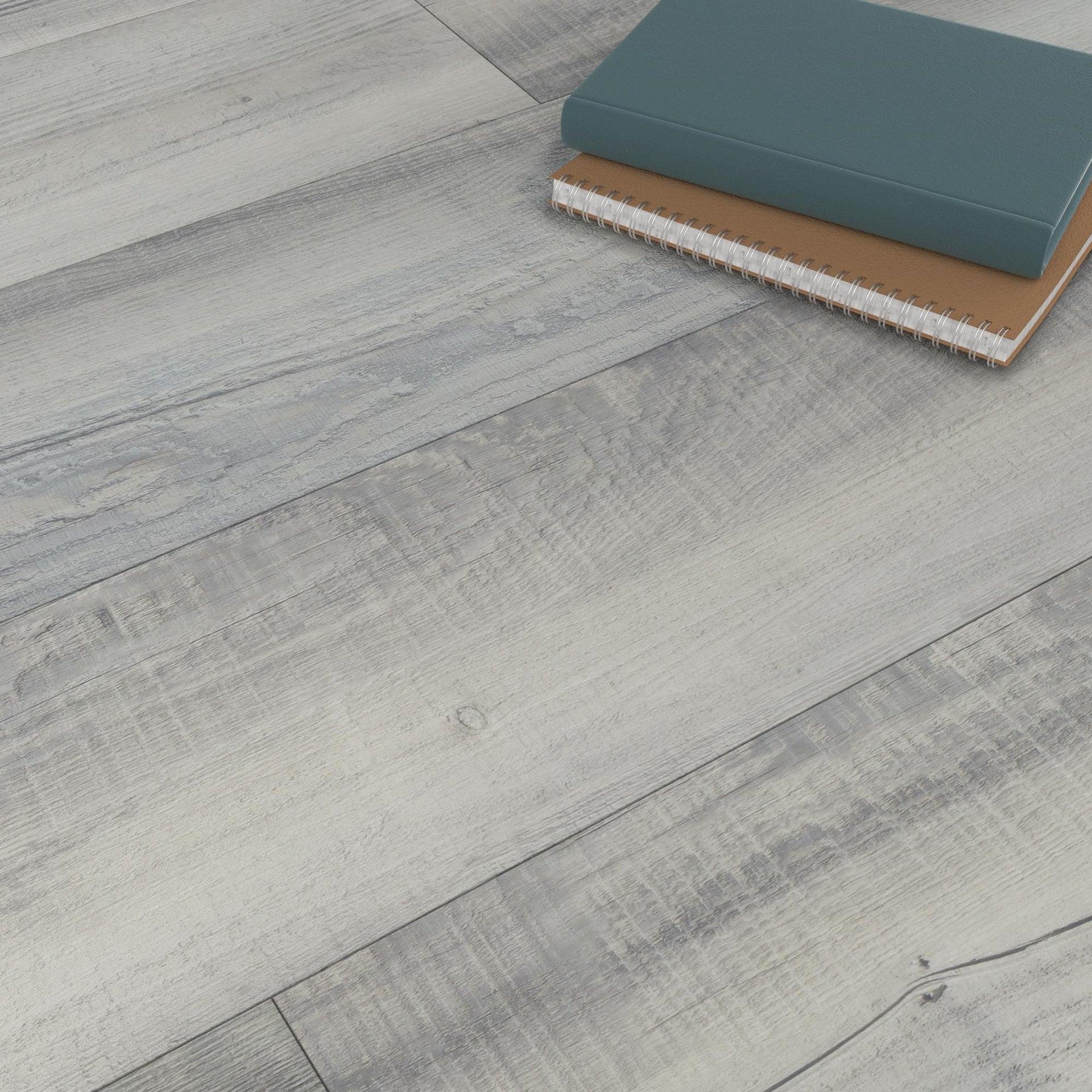 Plancia di vinile flottante clic+ Solor Sp 5 mm grigio / argento - 6