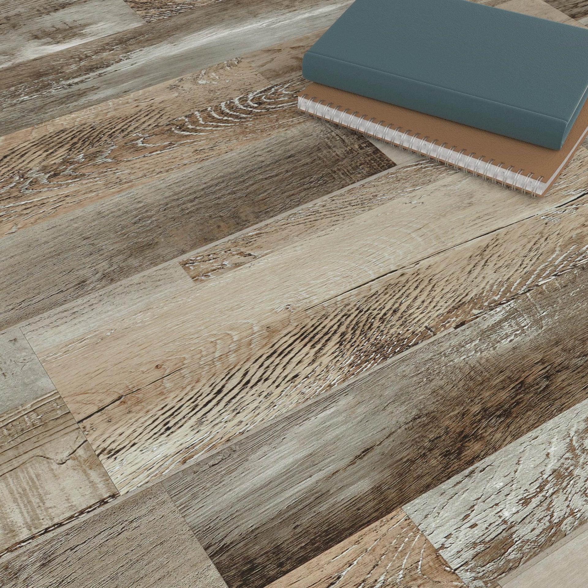 Pavimento PVC flottante clic+ Theek Sp 4 mm multicolore - 5
