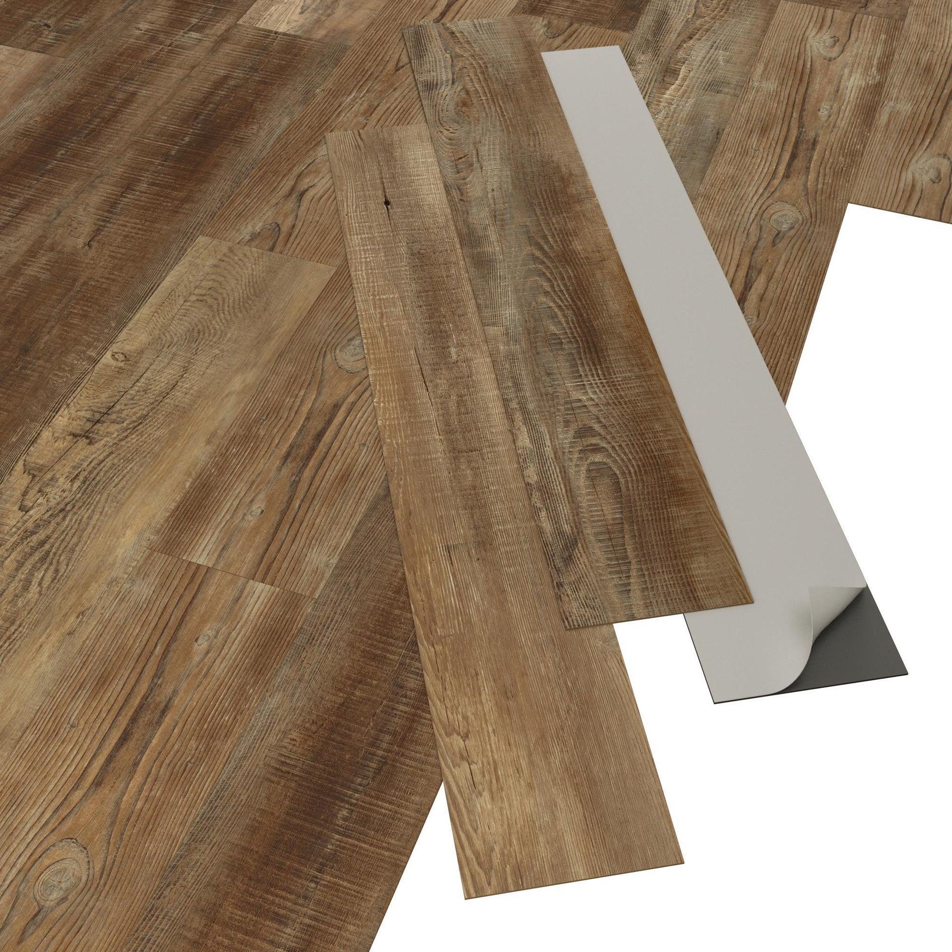 Pavimento PVC adesivo Tobacco Sp 2 mm marrone - 3