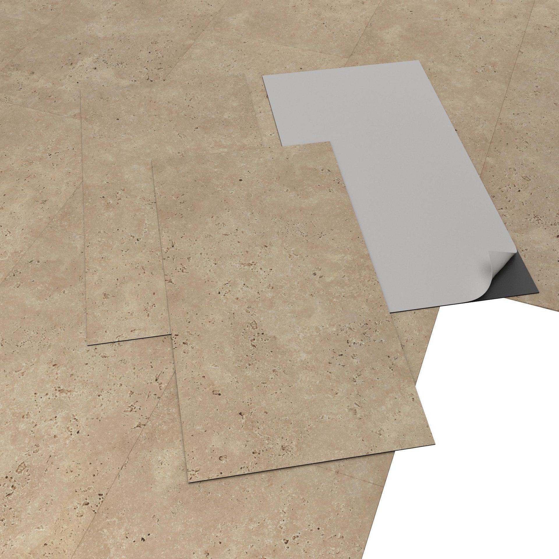 Pavimento PVC adesivo Travertino Sp 1.5 mm beige - 2