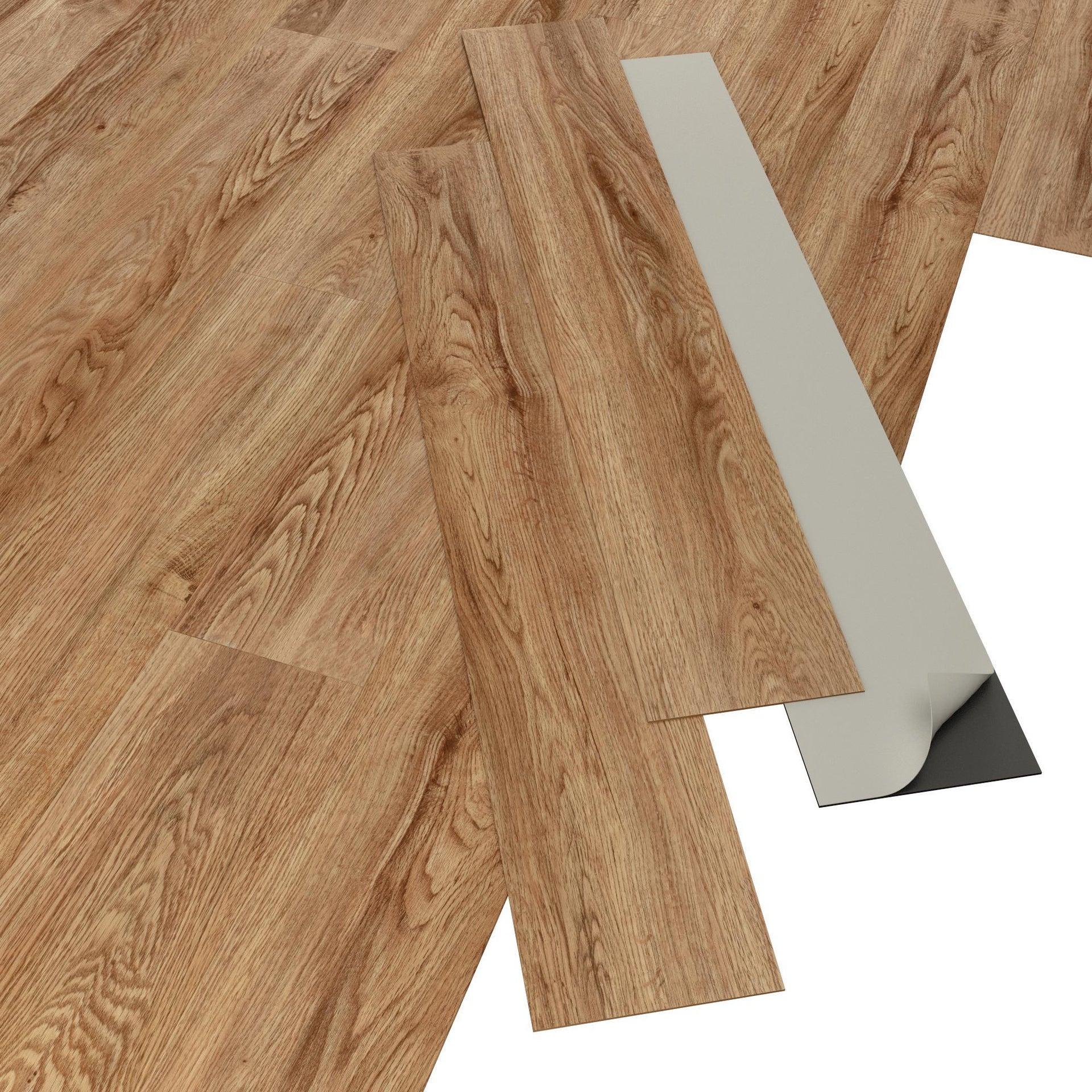 Pavimento PVC adesivo Baleen Sp 2 mm marrone - 6