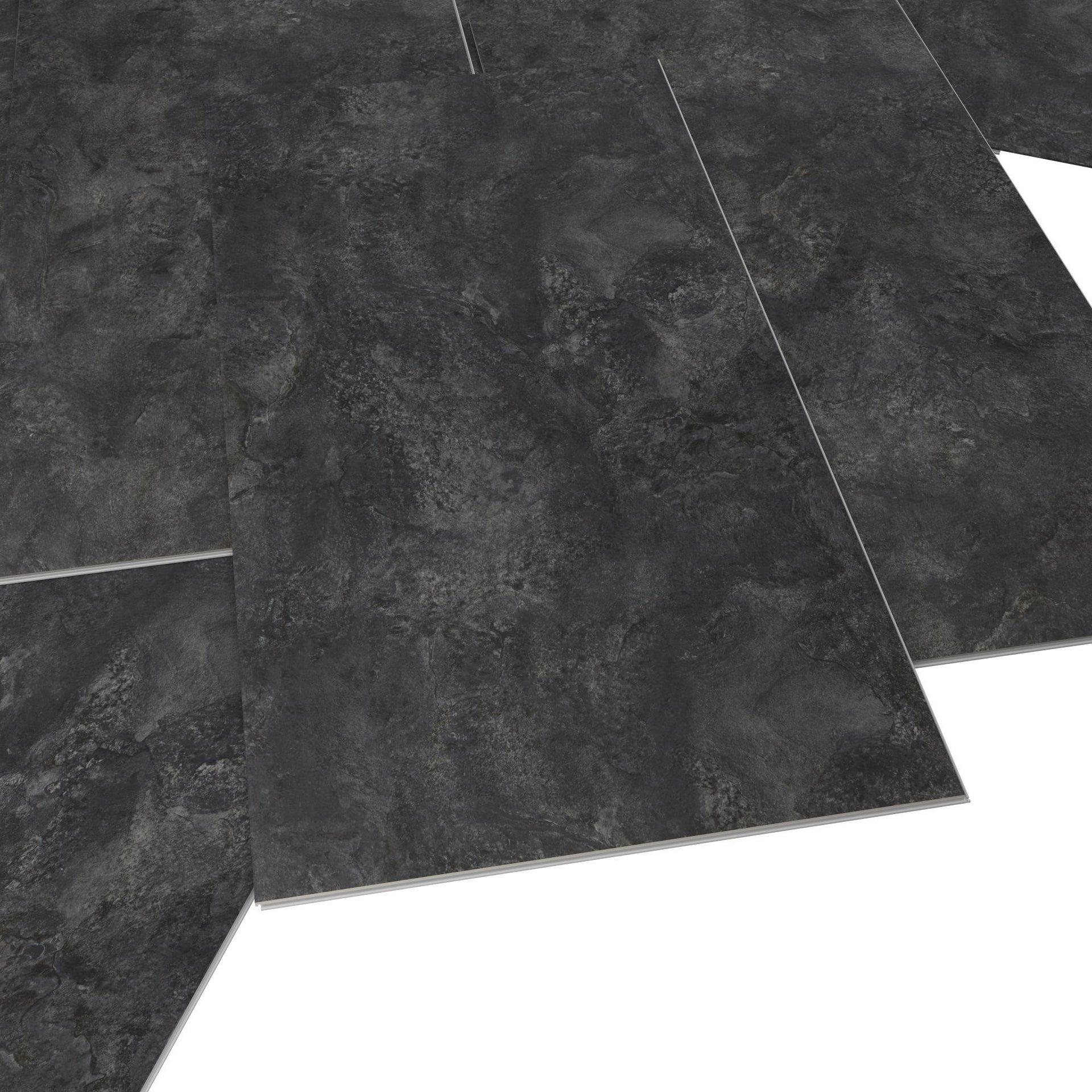 Pavimento PVC flottante clic+ Slate Sp 5 mm nero - 5