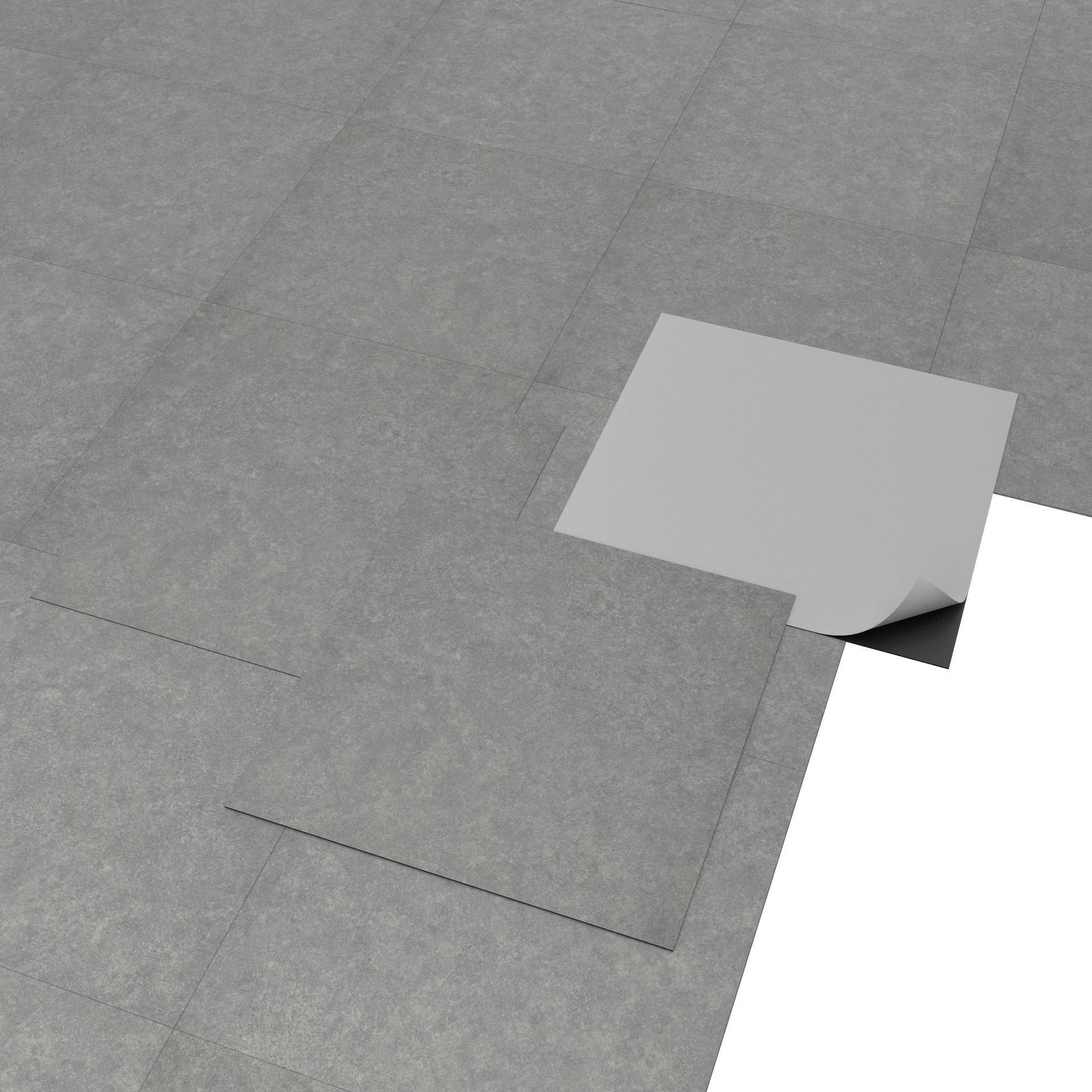 Pavimento PVC adesivo Kamet Sp 1.2 mm grigio / argento - 6