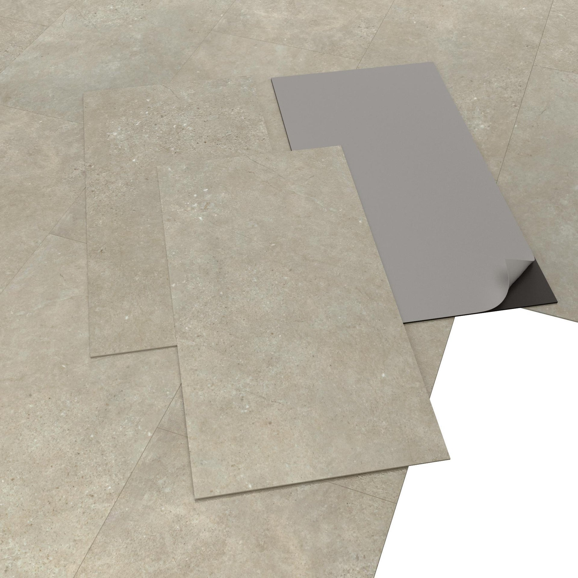 Pavimento PVC adesivo Limestone Sp 2 mm grigio / argento - 8