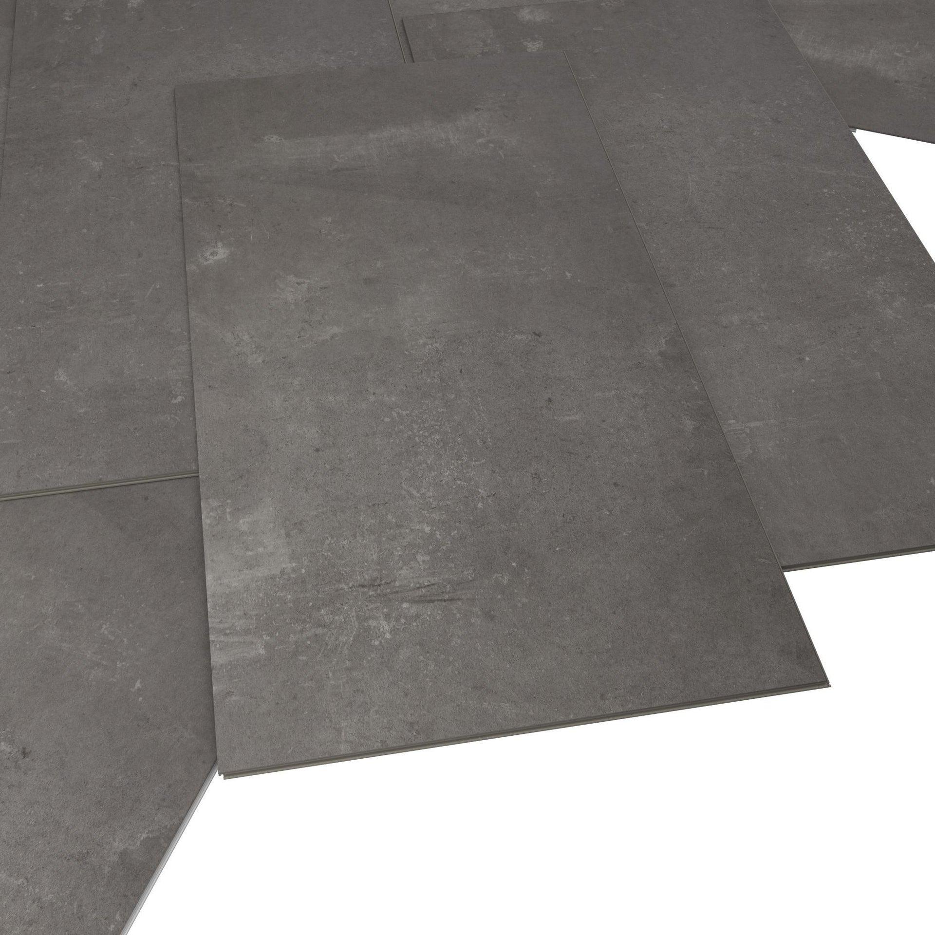 Pavimento PVC flottante clic+ Juke Sp 5 mm grigio / argento - 4
