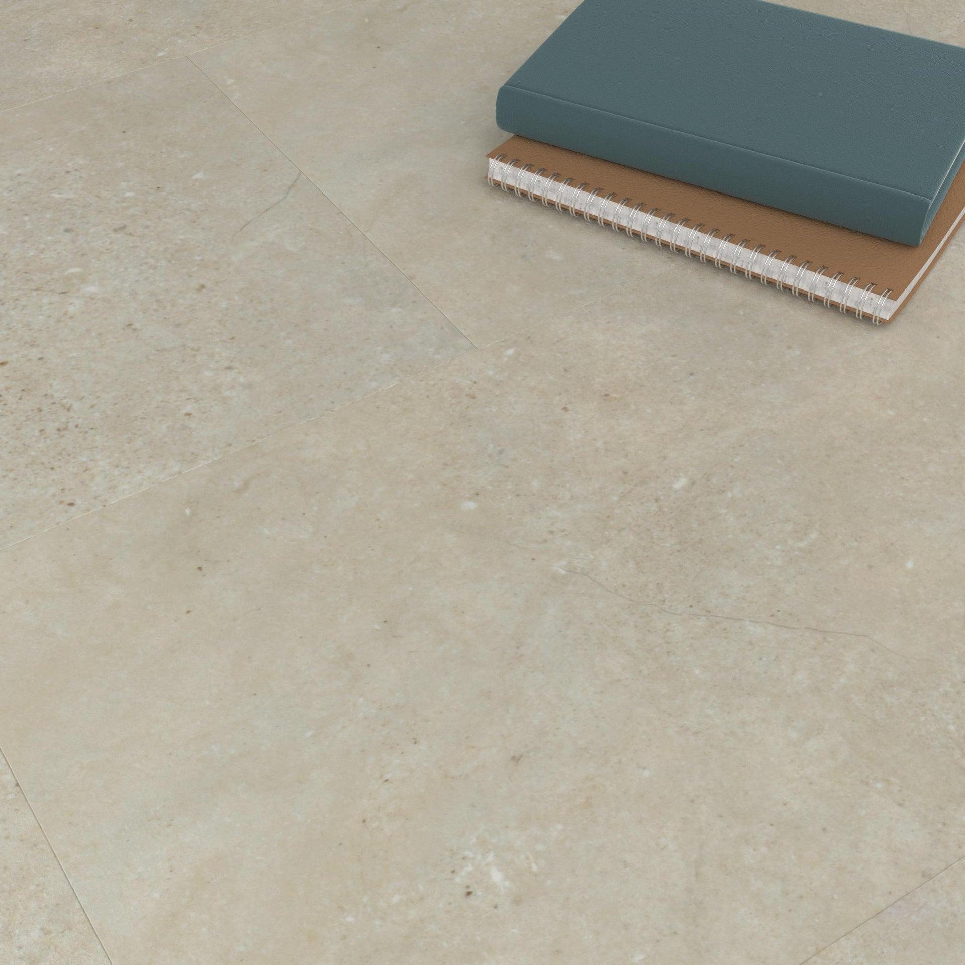 Pavimento PVC adesivo Limestone Sp 2 mm grigio / argento - 10