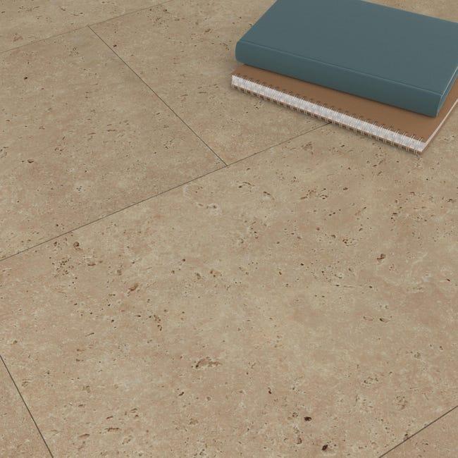 Pavimento PVC adesivo Travertino Sp 1.5 mm beige - 1