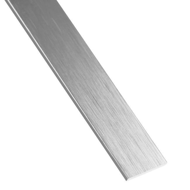Profilo piatto STANDERS in alluminio 2.6 m x 2 cm grigio - 1