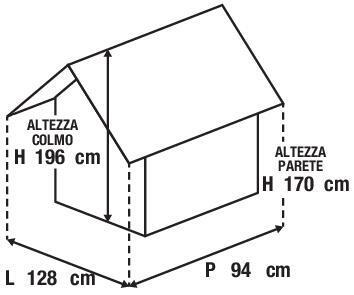 Casetta da giardino in polipropilene Lineus, superficie interna 0.98 m² e spessore parete 16 mm - 5
